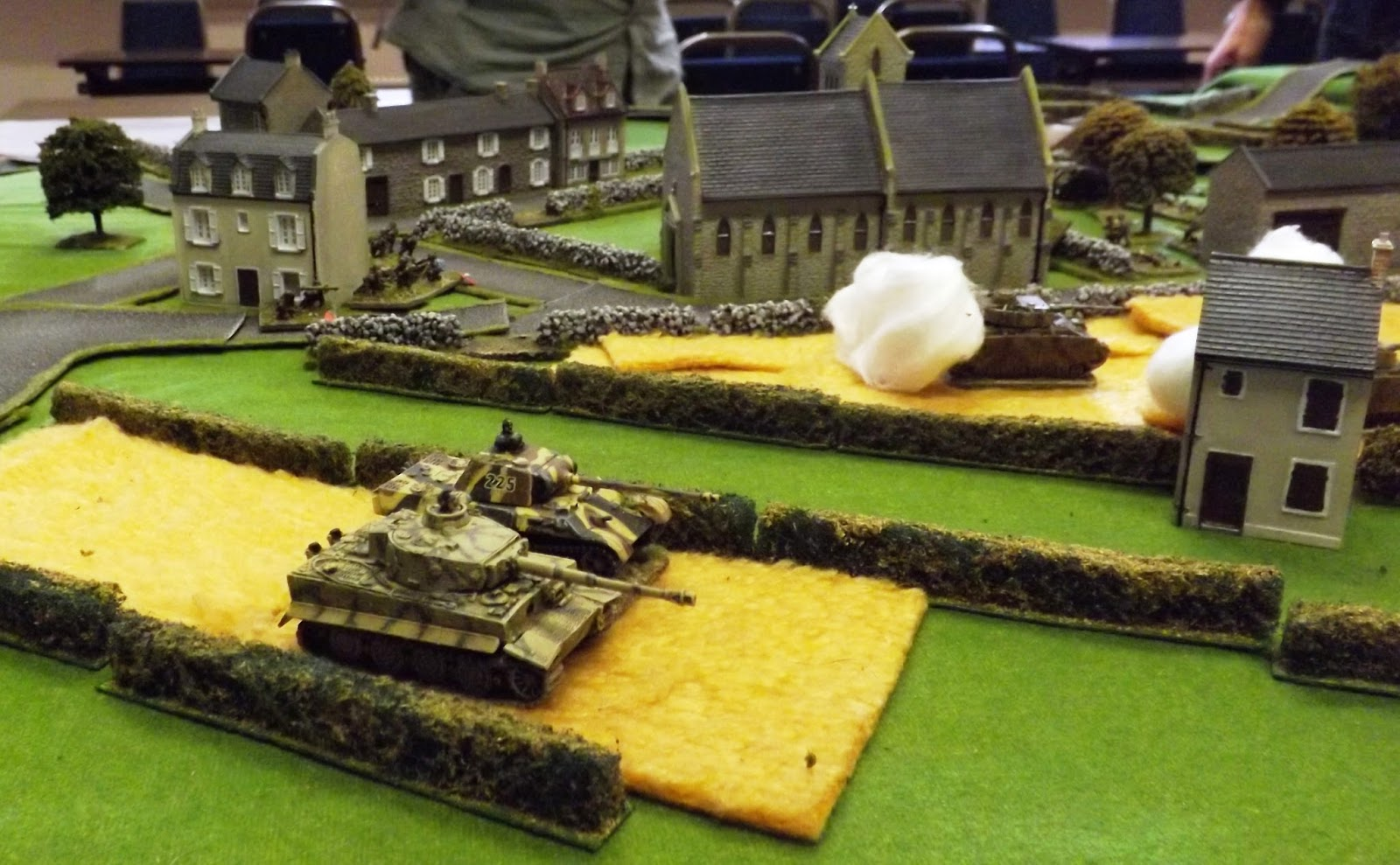 Stalemate as the German armour is pinned by Currie and unable to break off as the remaining Canadian tanks and infantry take the German infantry apart.