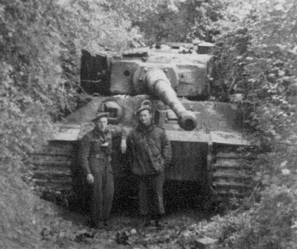 Tiger tank knocked out in St Lambert sur Dives