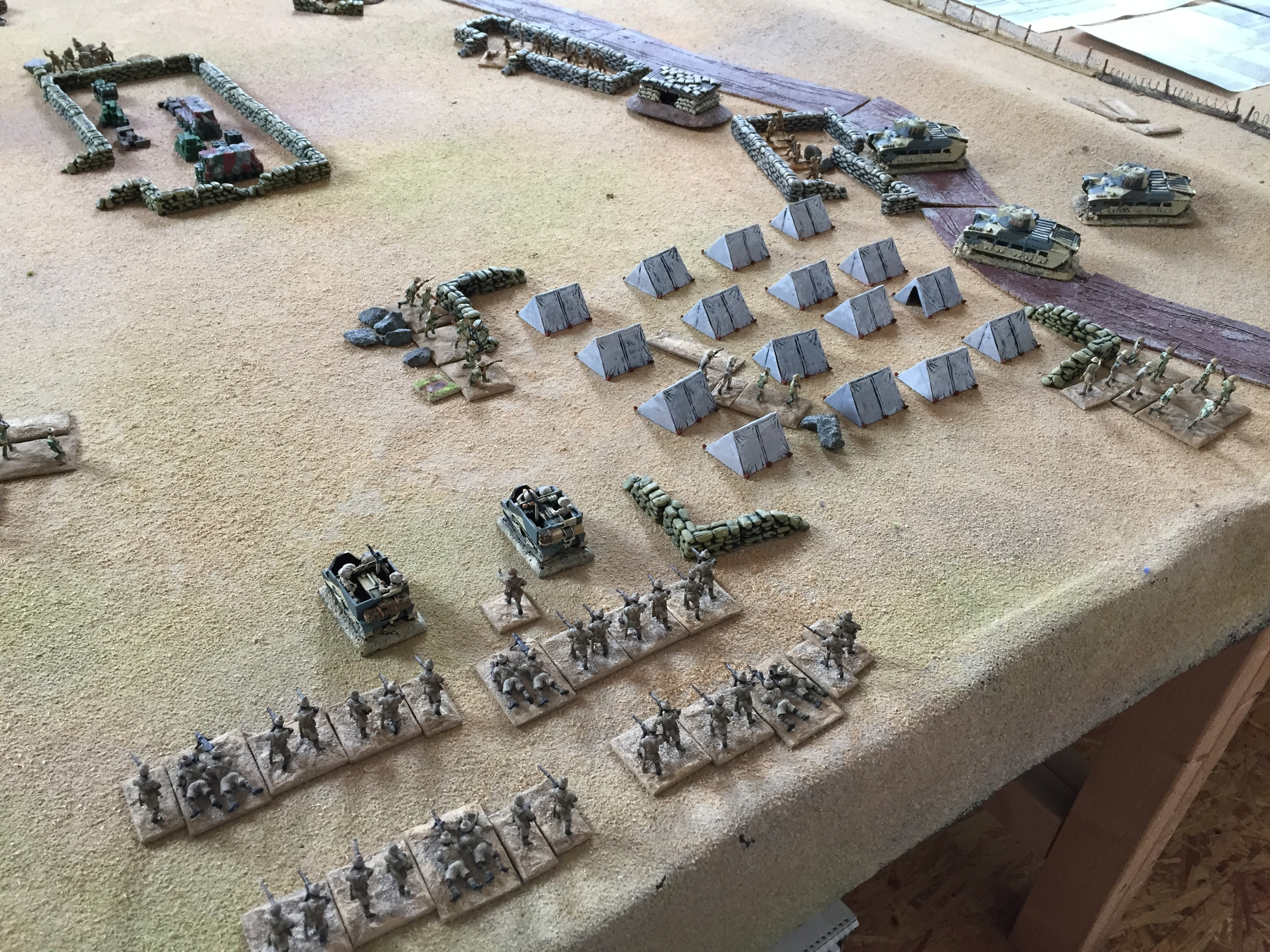 Elias throws another 6 and on comes a company of Indian infantry