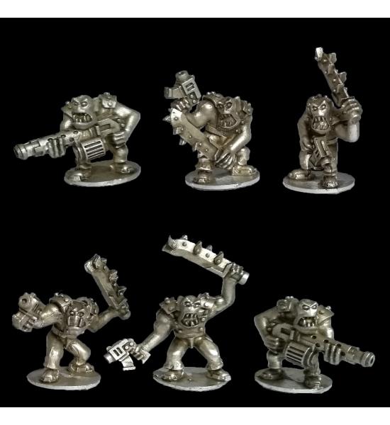 Uruk Warriors with Pistols, Swords, and Machineguns