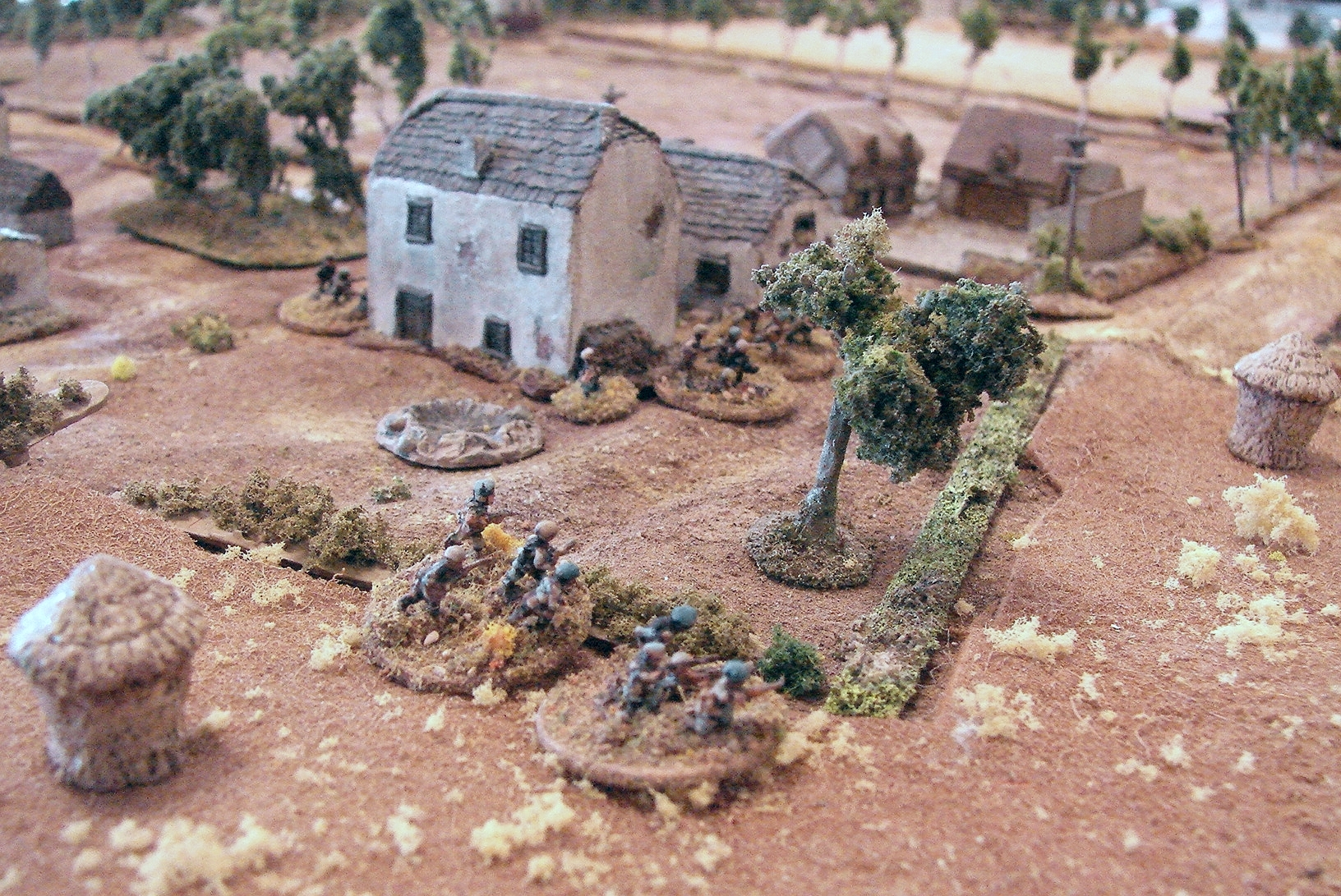 Fallschirmjaegers on the table   I sent one platoon in to seize the farms close to edge