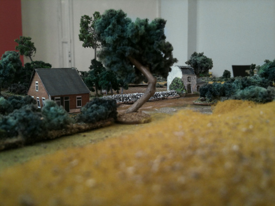 An undermanned German platoon positioned in these houses