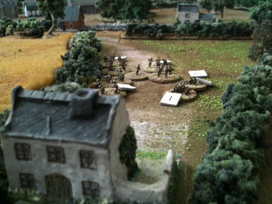 A German MG42 opened fire on a Canadian platoon from the red house