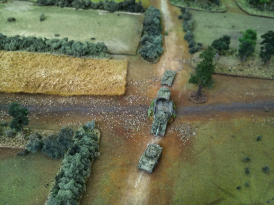 hermans pushed forward to support friendly infantry...