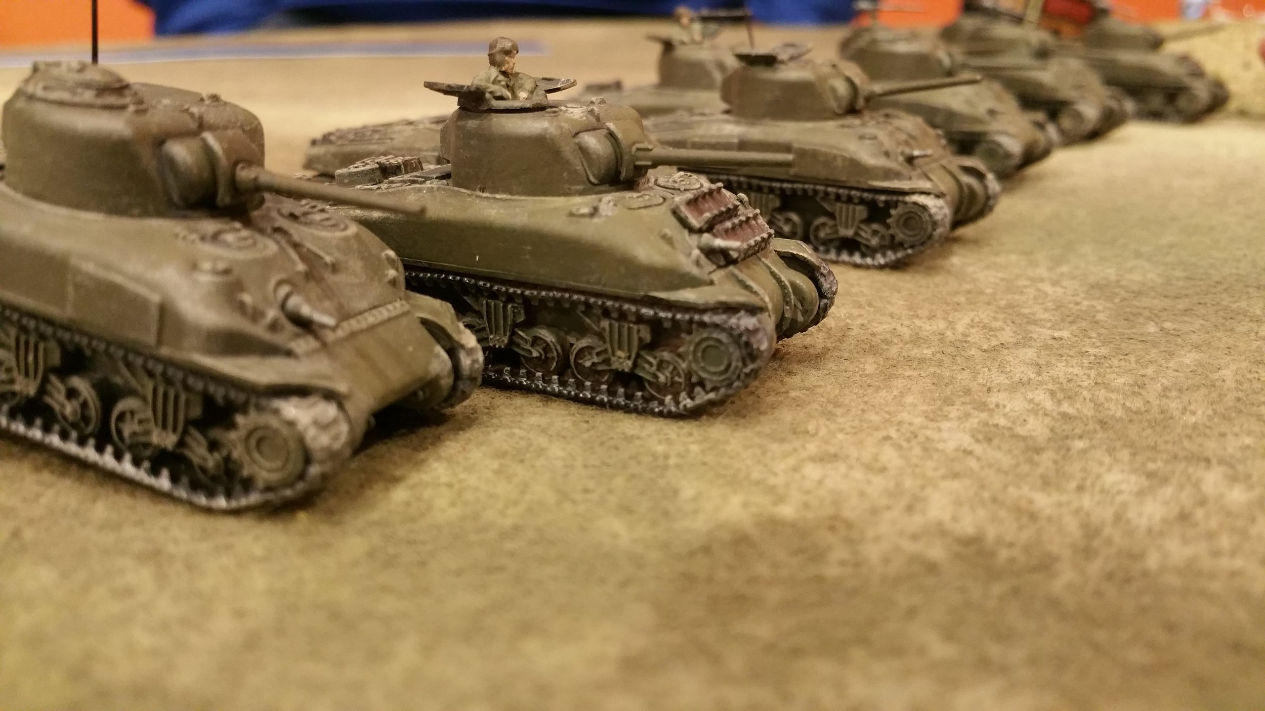 shermans duel with tigers