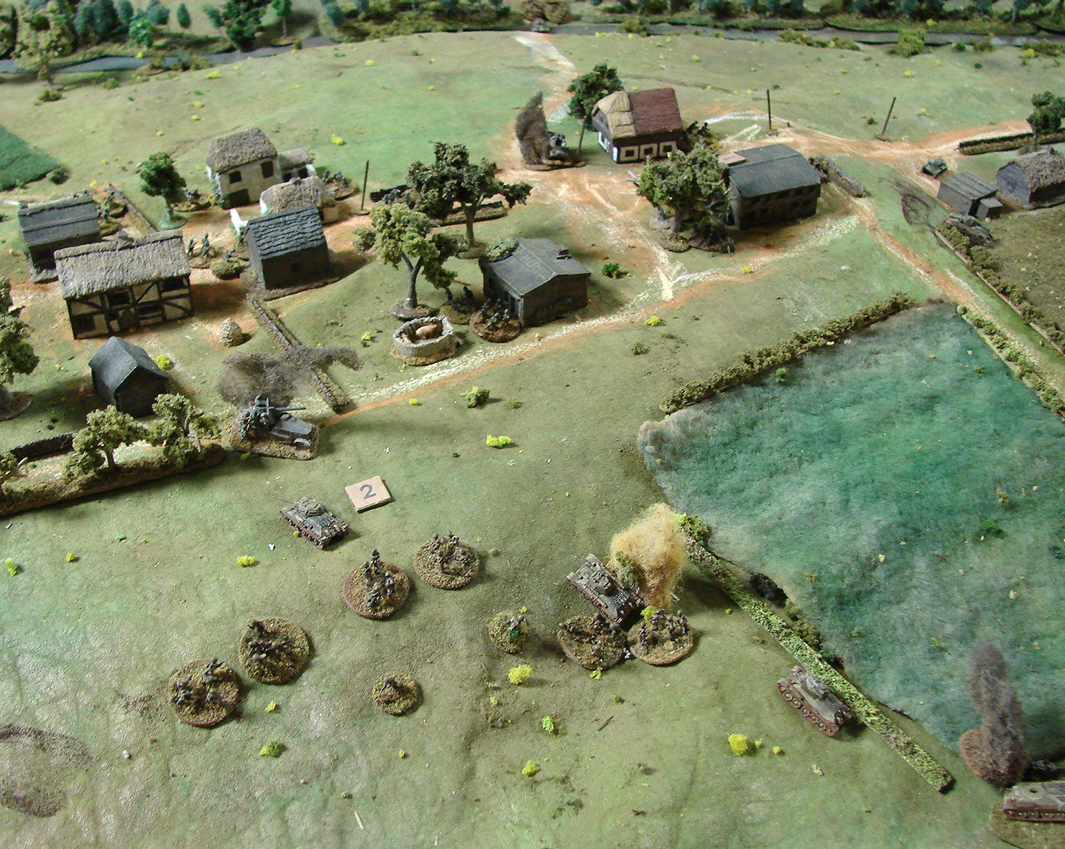 Right flank in jeopardy