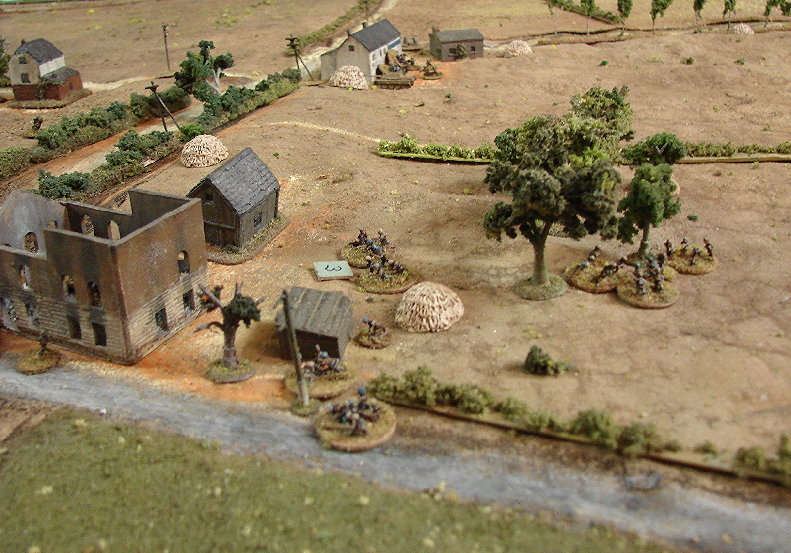 Fighting along the Geel road