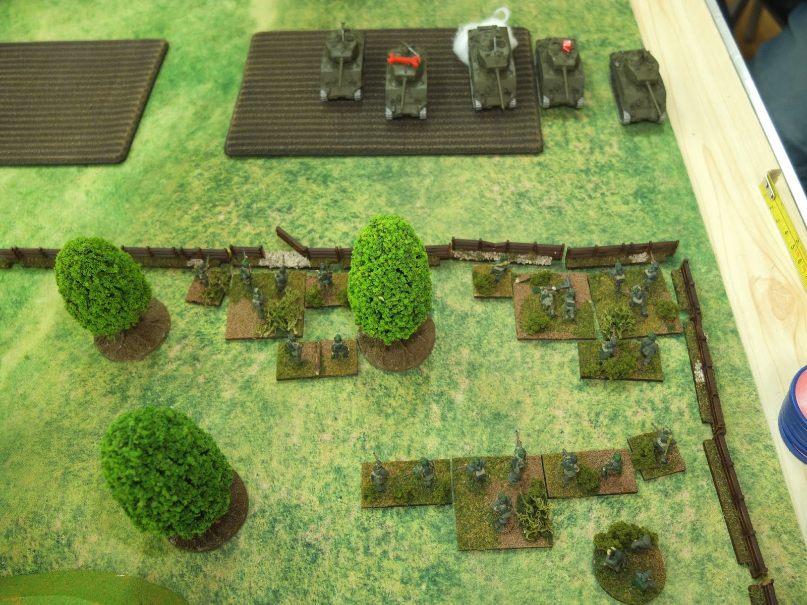 US Tanks Attack the panzergrenadiers