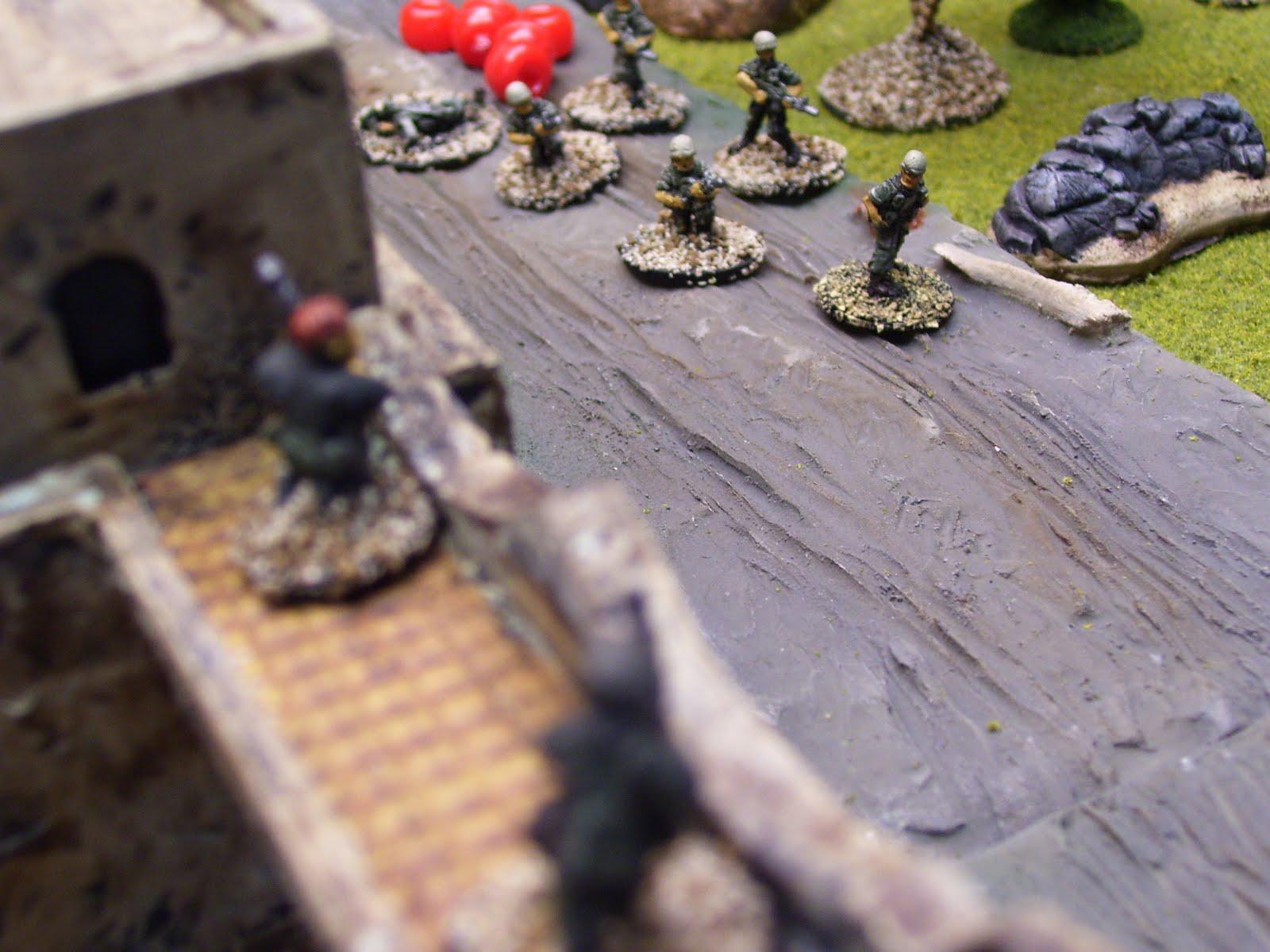 LMG team bring the SLA squad under fire.