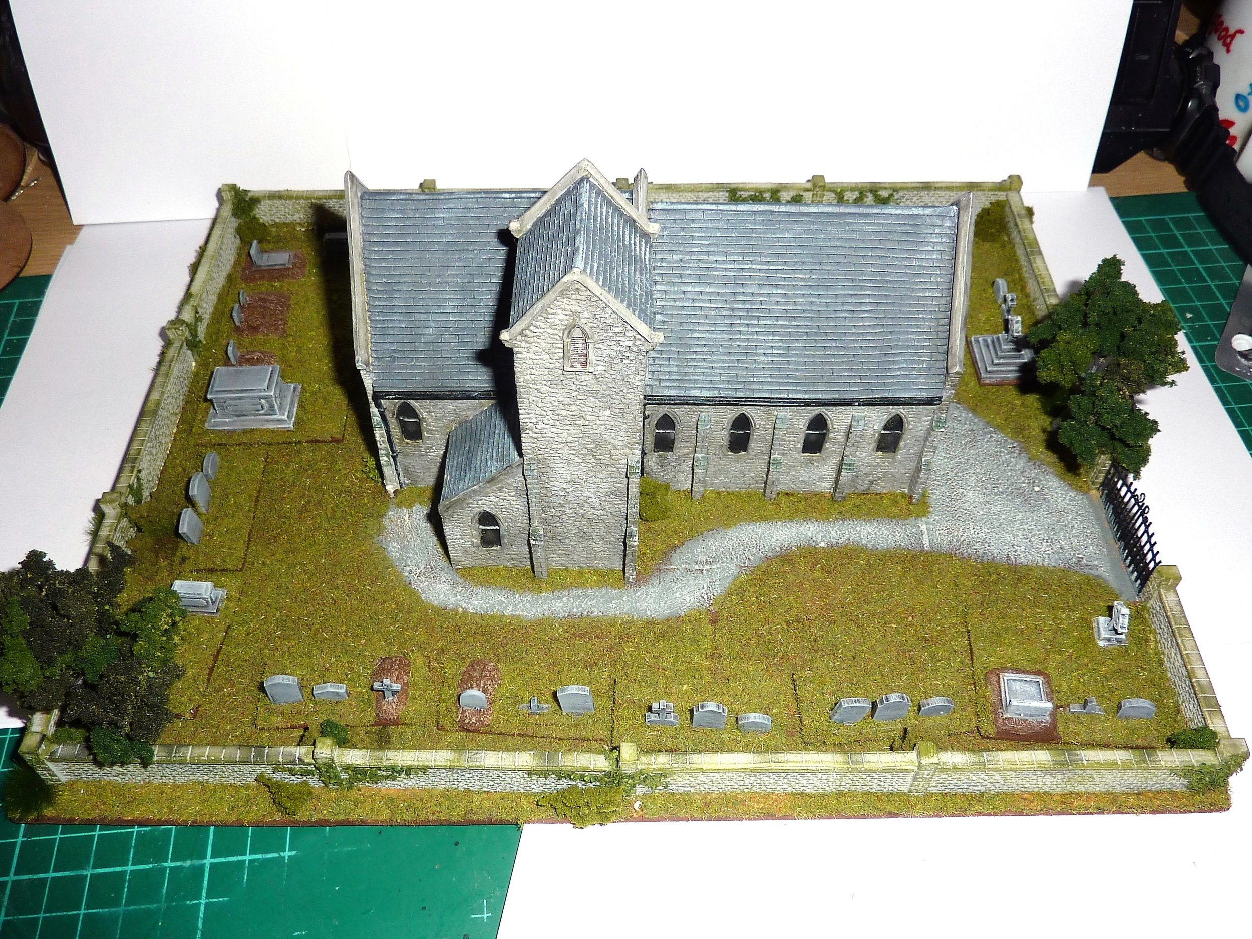 Well it is a Sunday: a church and graveyard from Jason