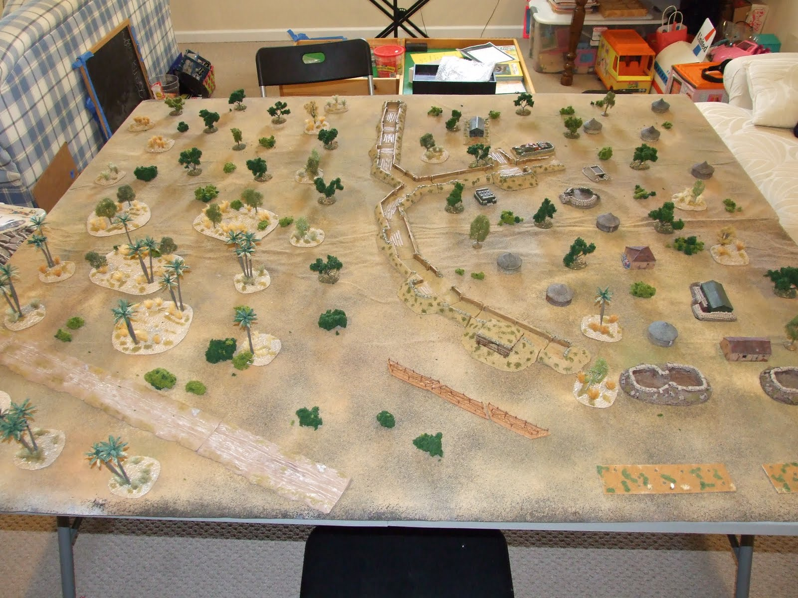 The latest iteration of the terrain setup.