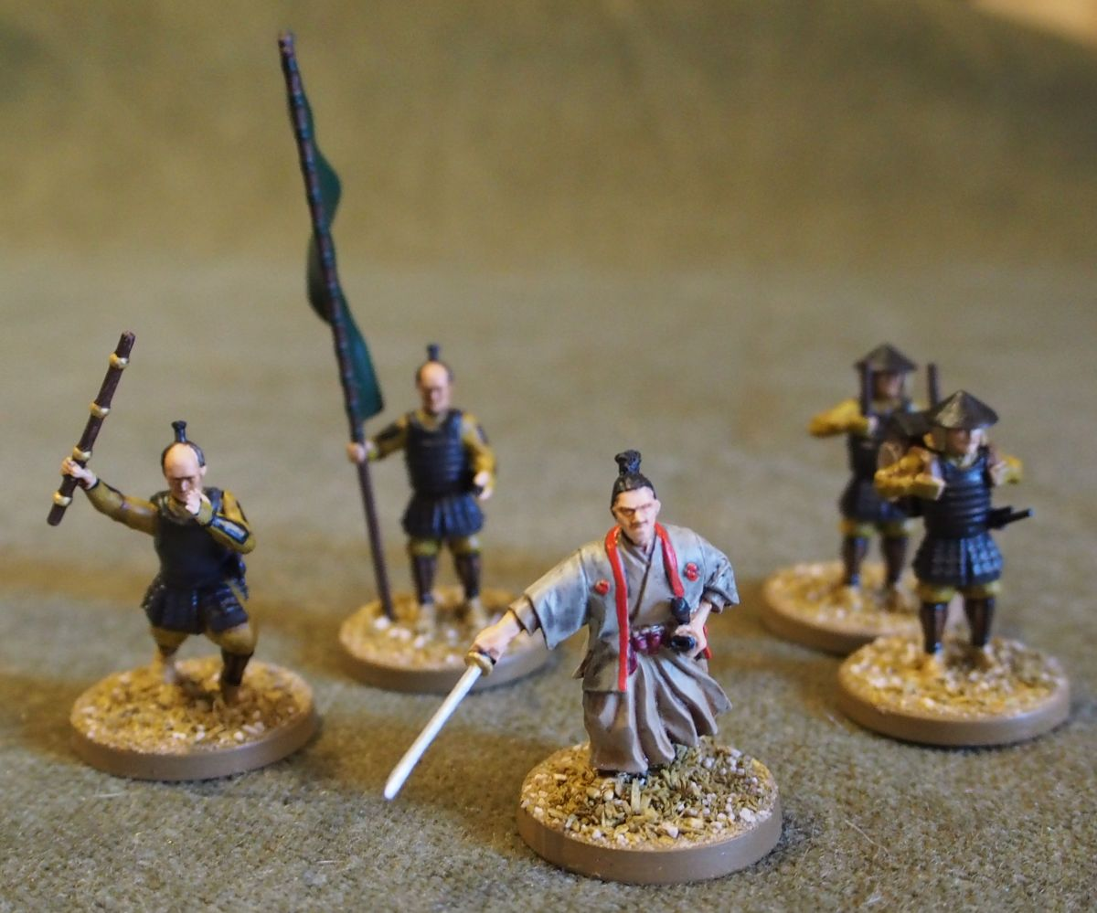 samurai and friends from Mr Haines
