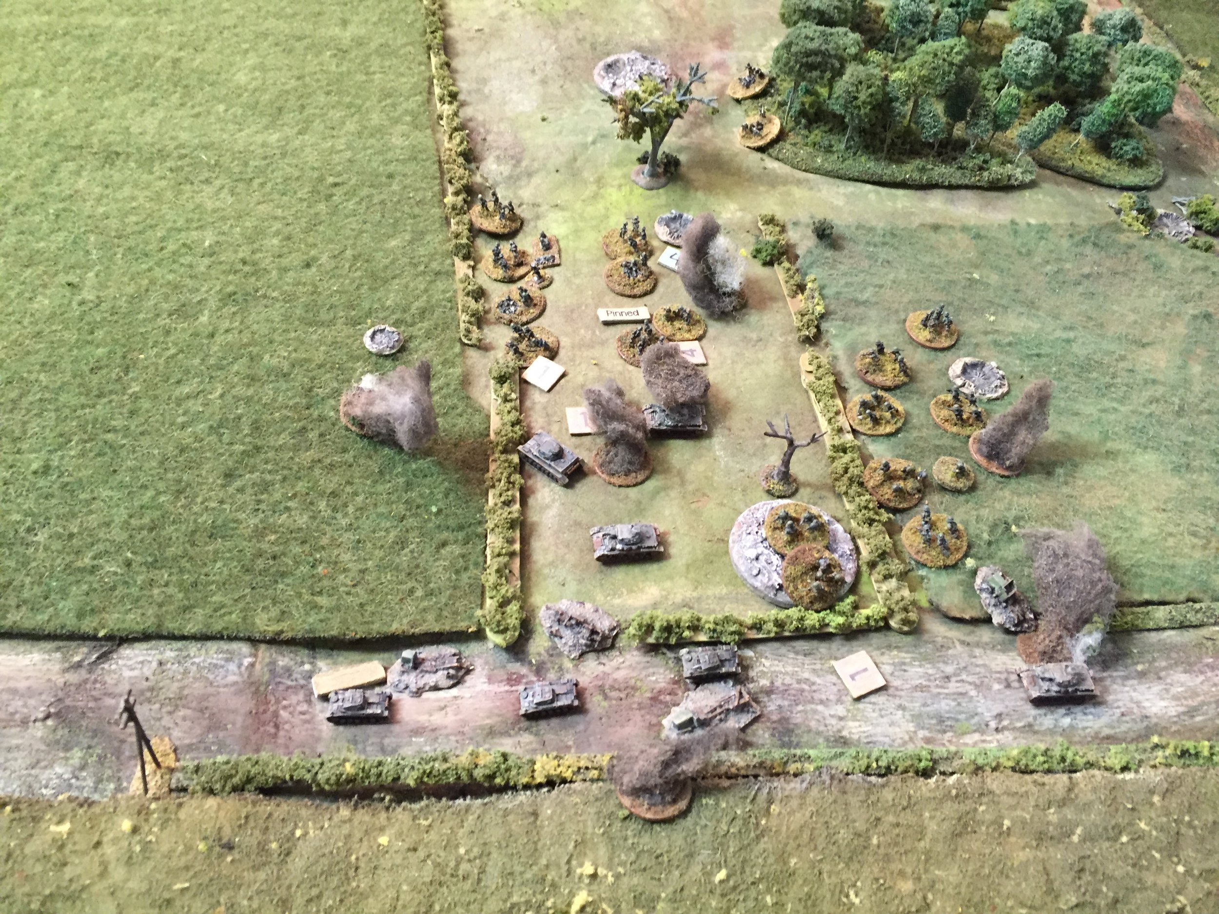 """3"""" Mortars now Falling on the Grenadiers"""