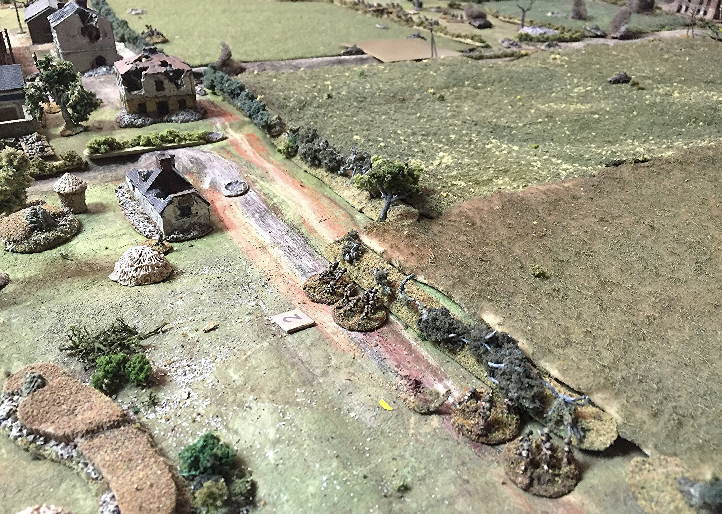 British Right Flank Pulling Back