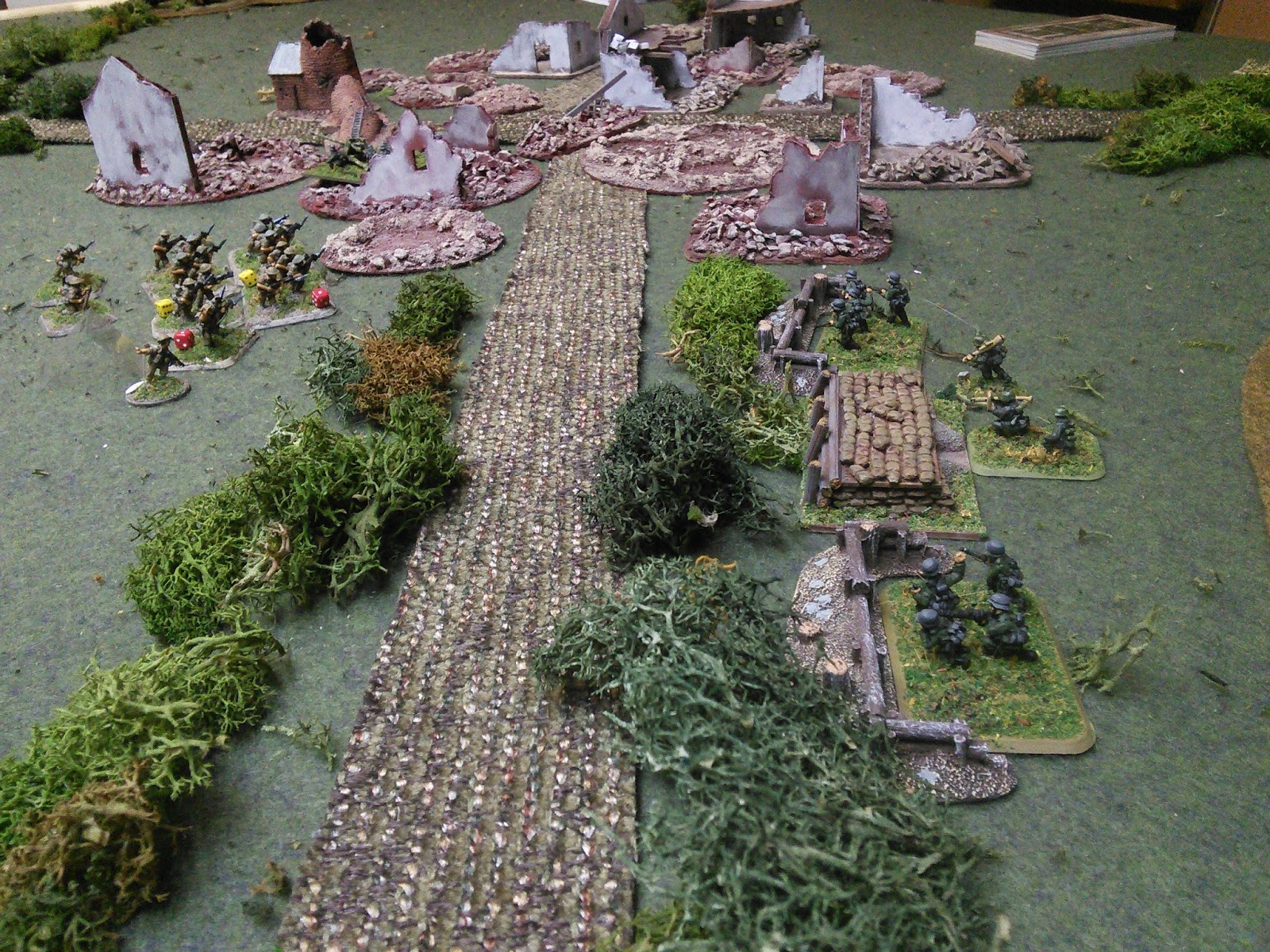 First contact. Germans open up on 3 platoon