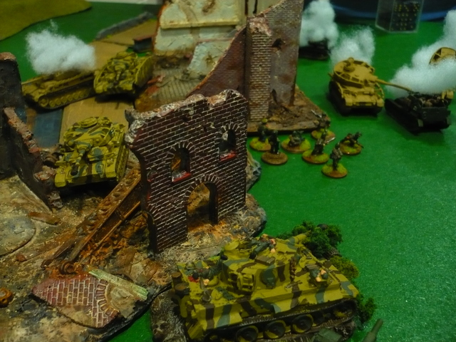 The Germans seem to be totally in control of the left flank