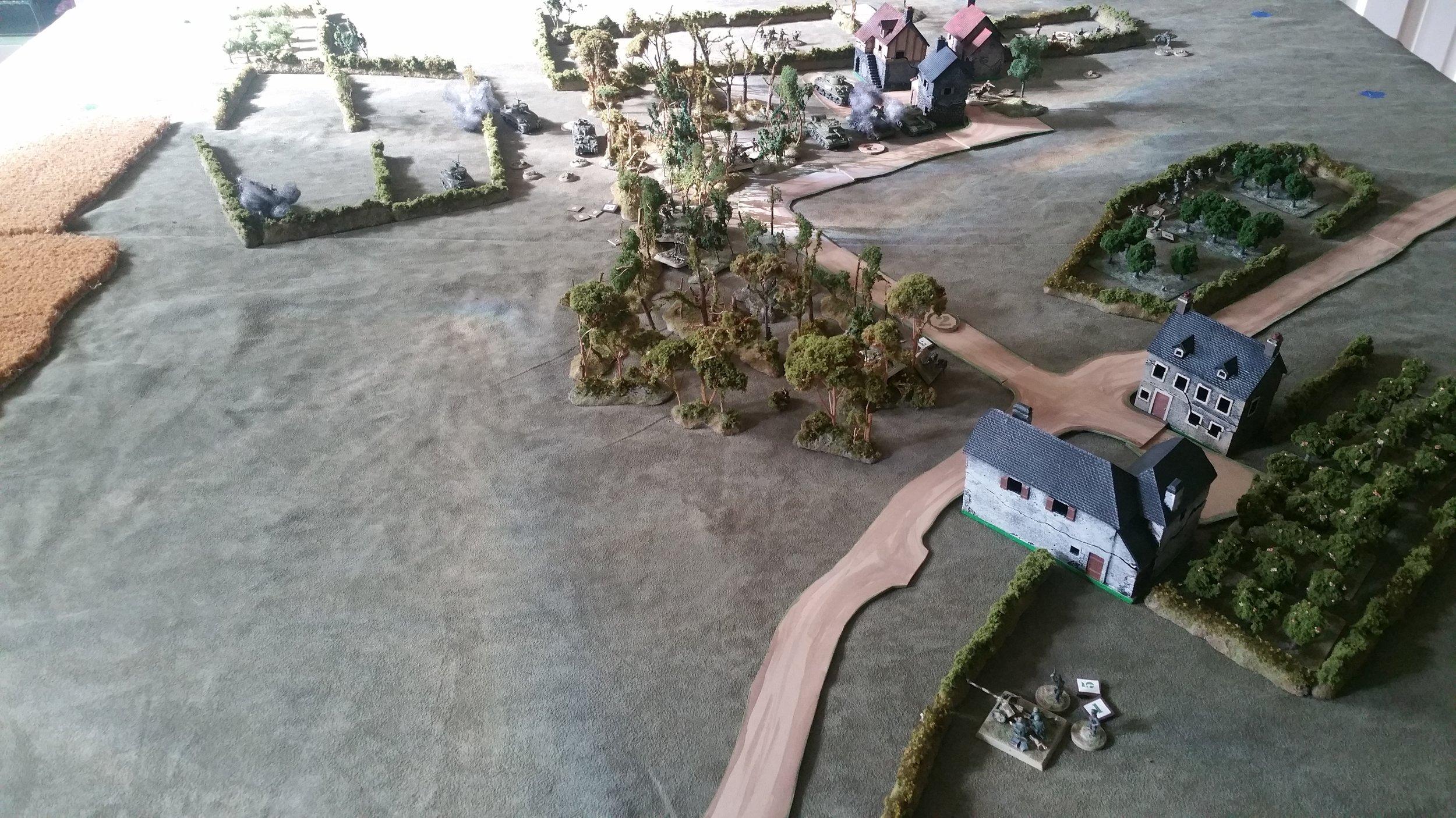 Pak 40 Halts the Shermans