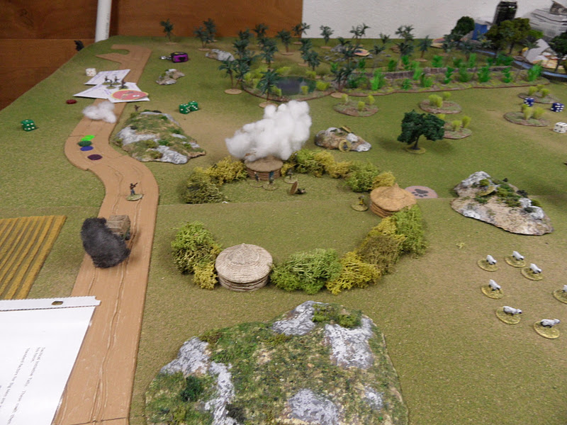 When sweeping the eastern village, the R.L.I. encountered enemy fire.  It was quickly dealt with.