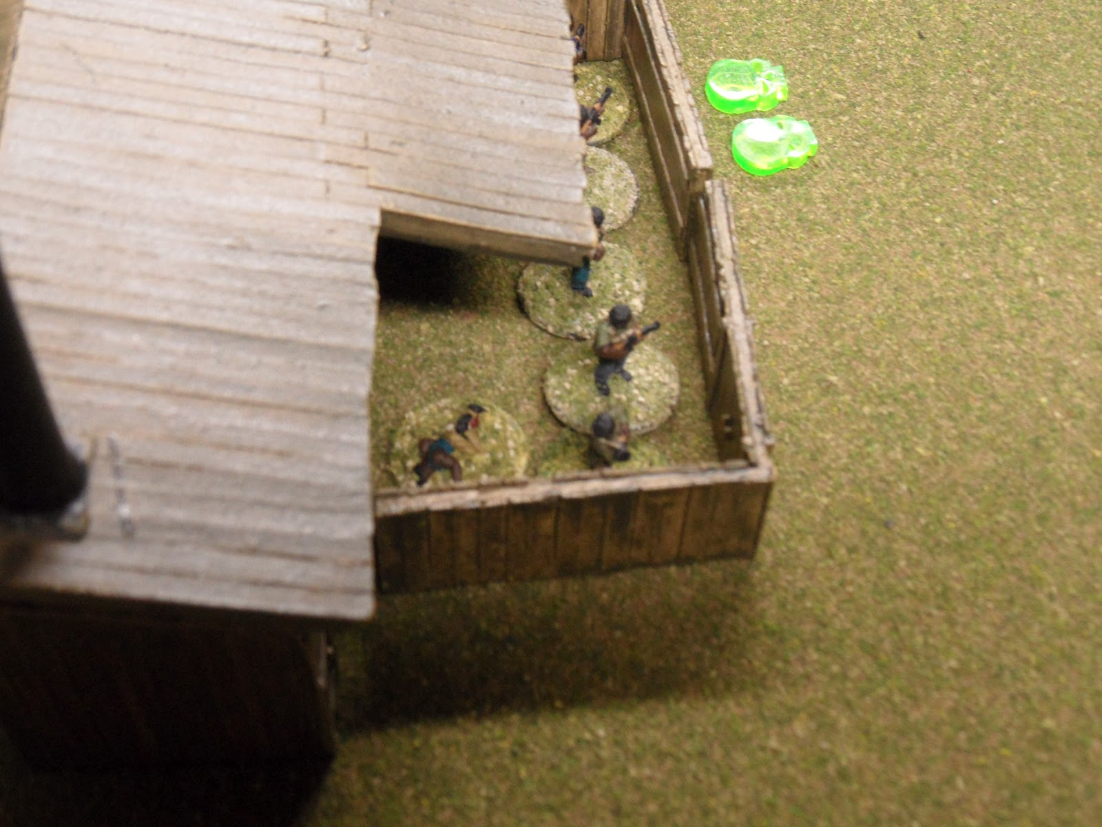 Back at the sawmill, the IMC forces maintain their foothold despite casualties.