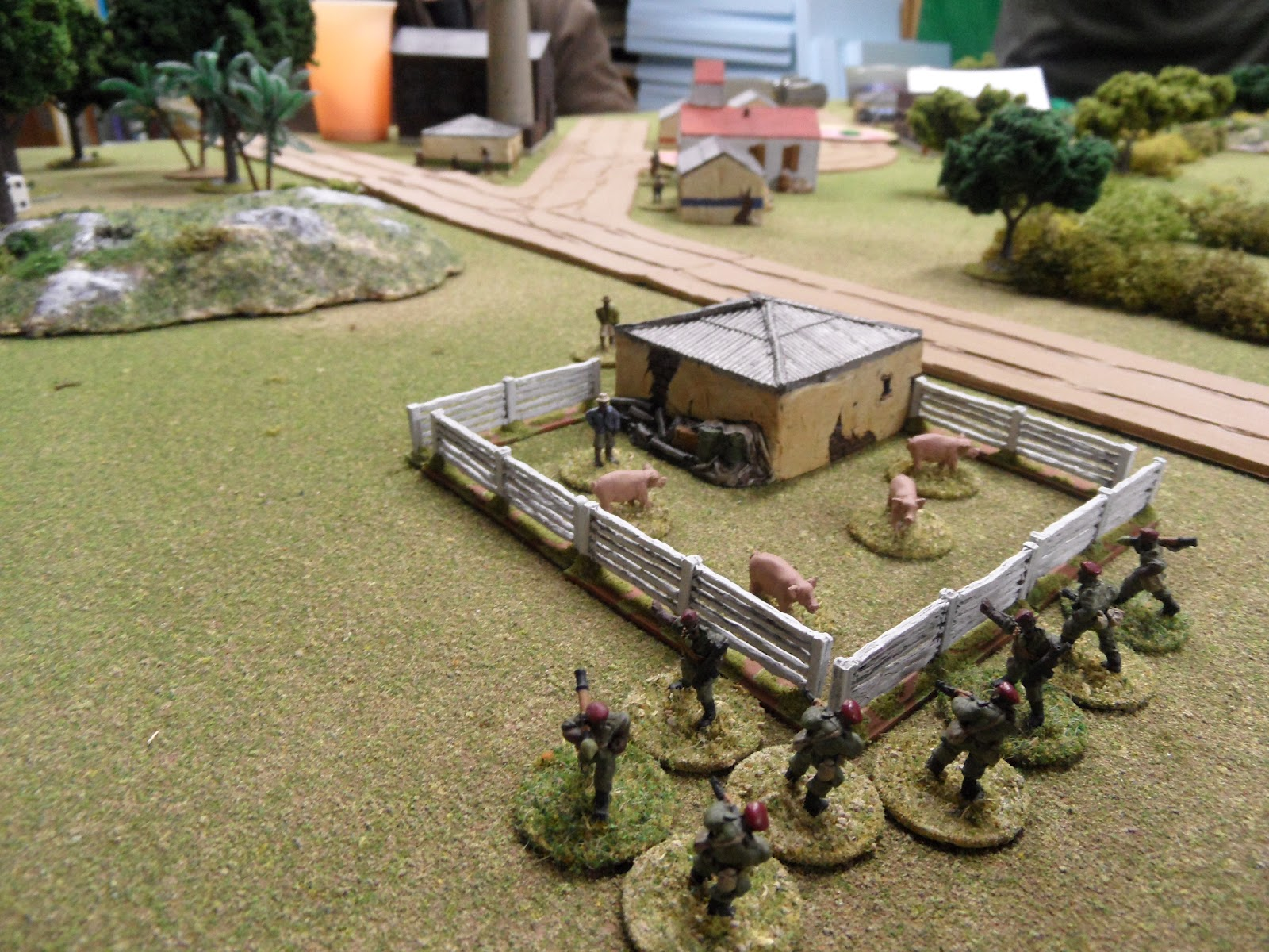 The Guards gain control of the pig farm.