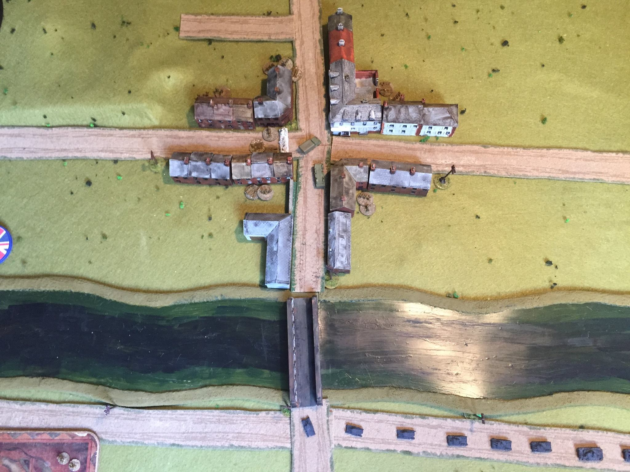 The 1st Panzer approach the cross roads