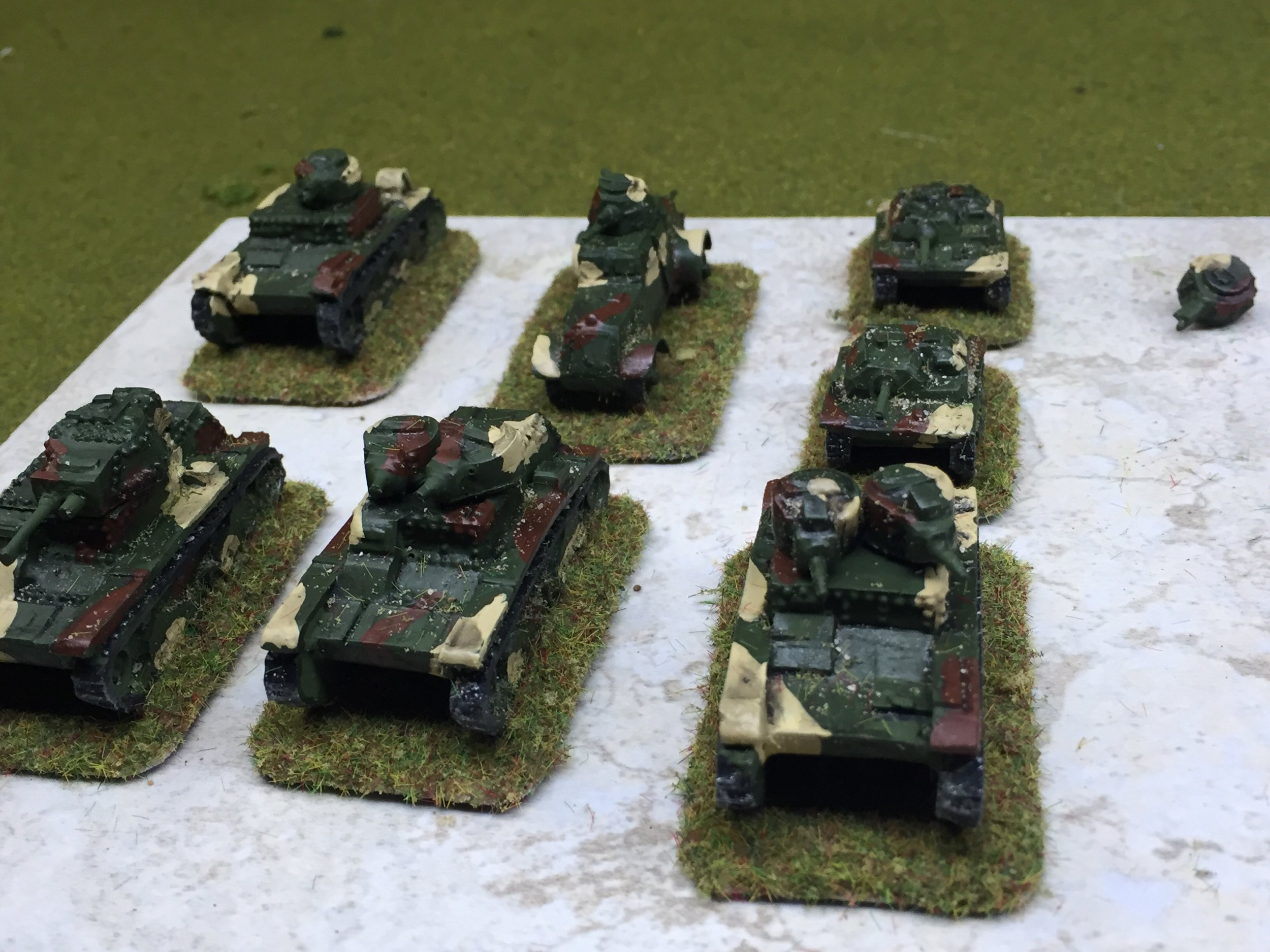 Going down:  15mm Polish tanks from Jon
