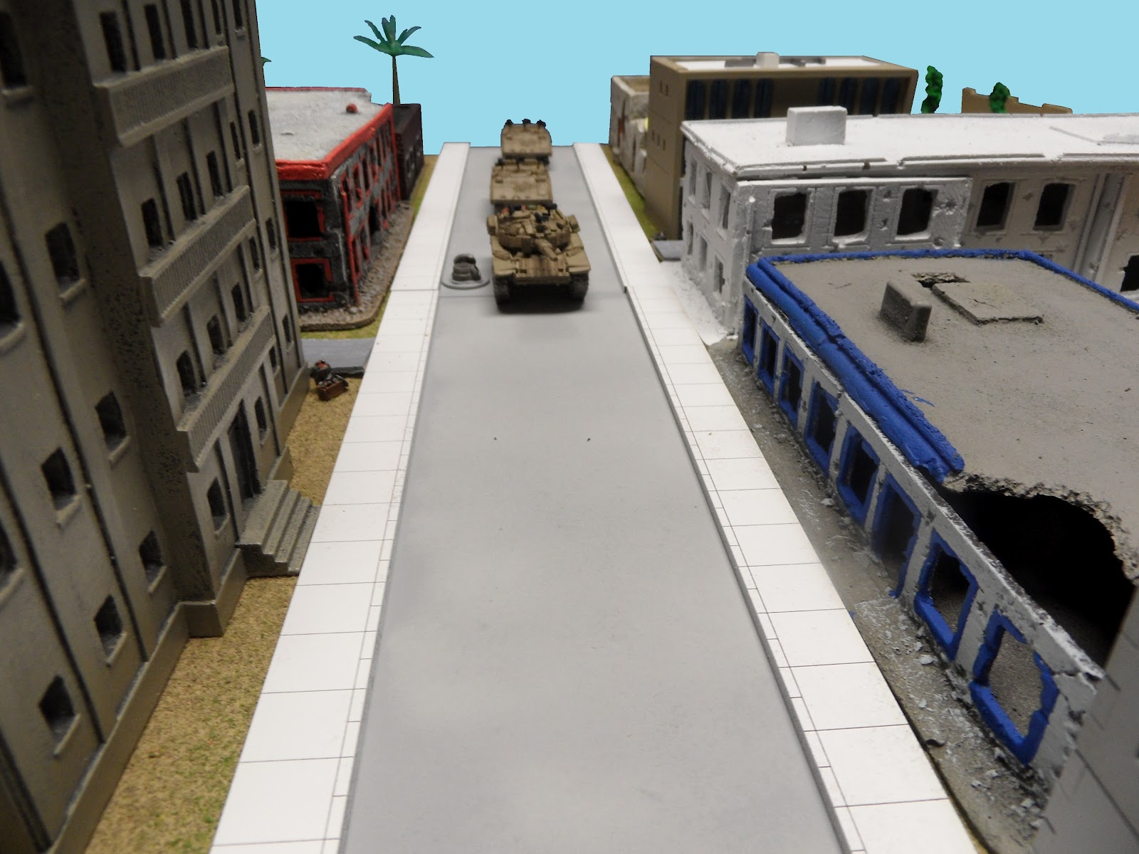The Israelis enter, leading with the Magach. Put your best gun forwards!