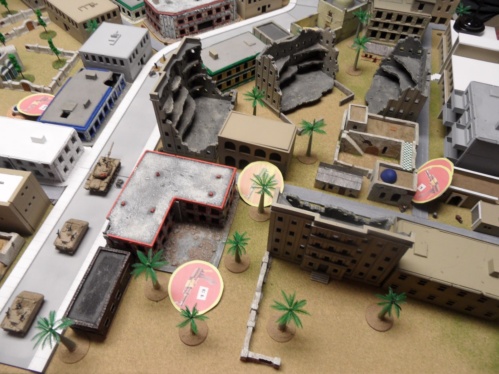 PLA blinds manoeuvre in the back-alleys of the camp.