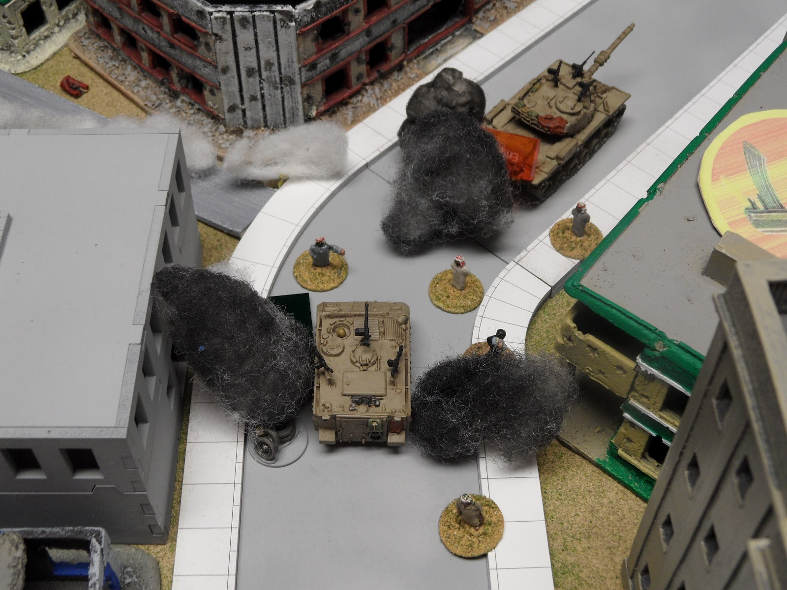 These civilians: They stand in streets, block tanks, and run into the middle of firefights. Seriously...