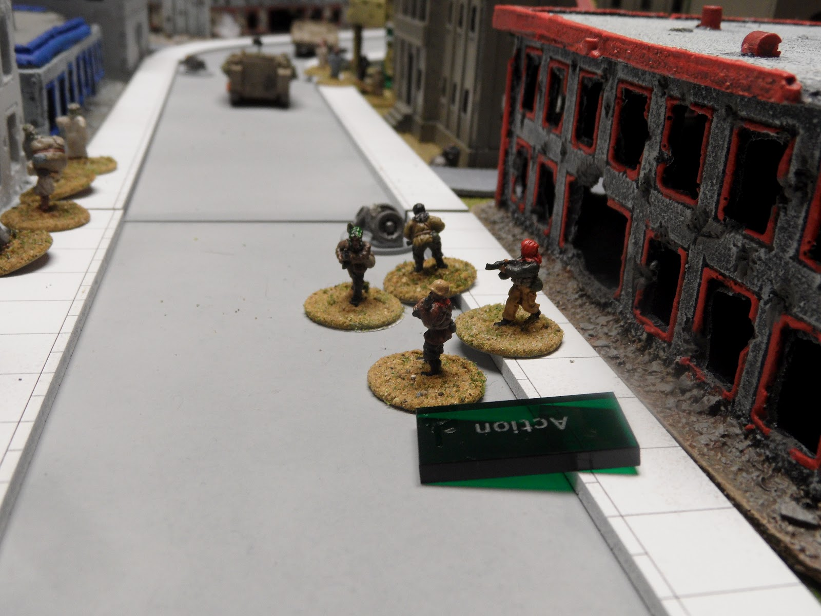 A team rushes into the street and fires off an RPG round at the Zelda's rear...