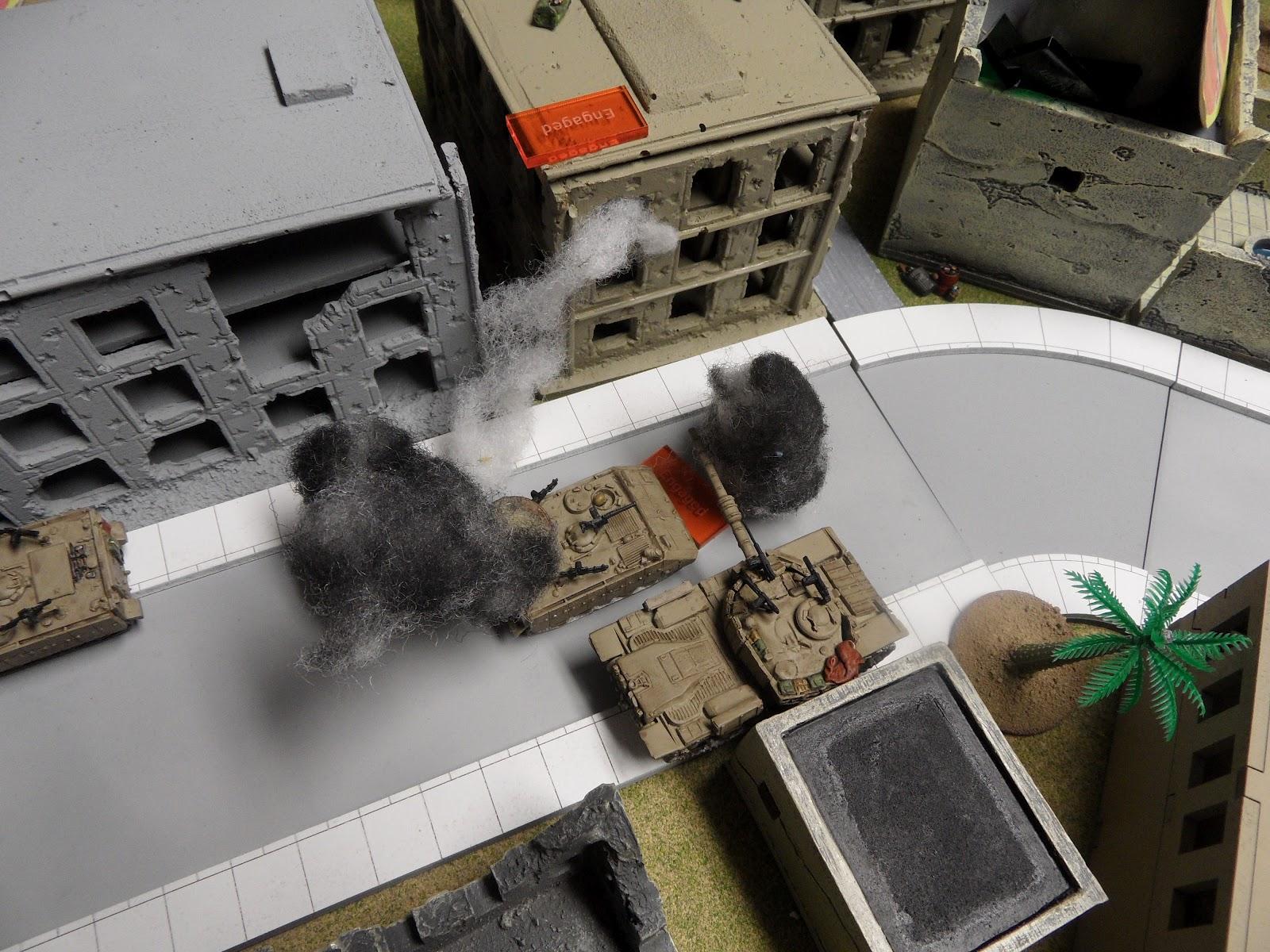 The Magach turns its AA Machine Gun on the ambushers when its main gun can't elevate upwards.