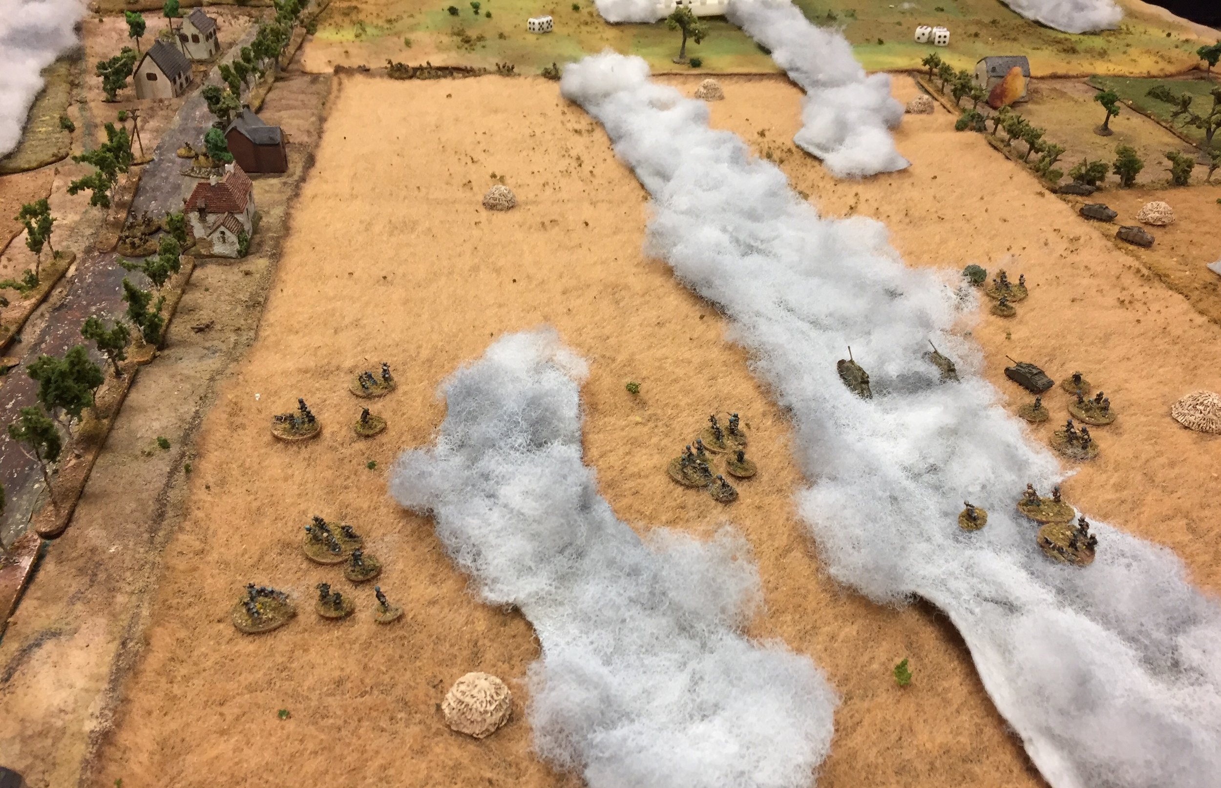 Germans Heading Towards the Road and Buildings