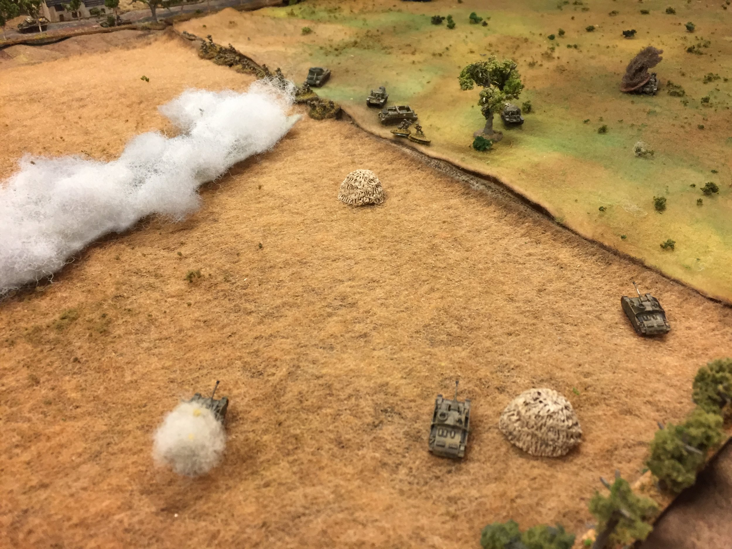 Luftwaffe Troops Pull Back and StuGs and Hussars Engage