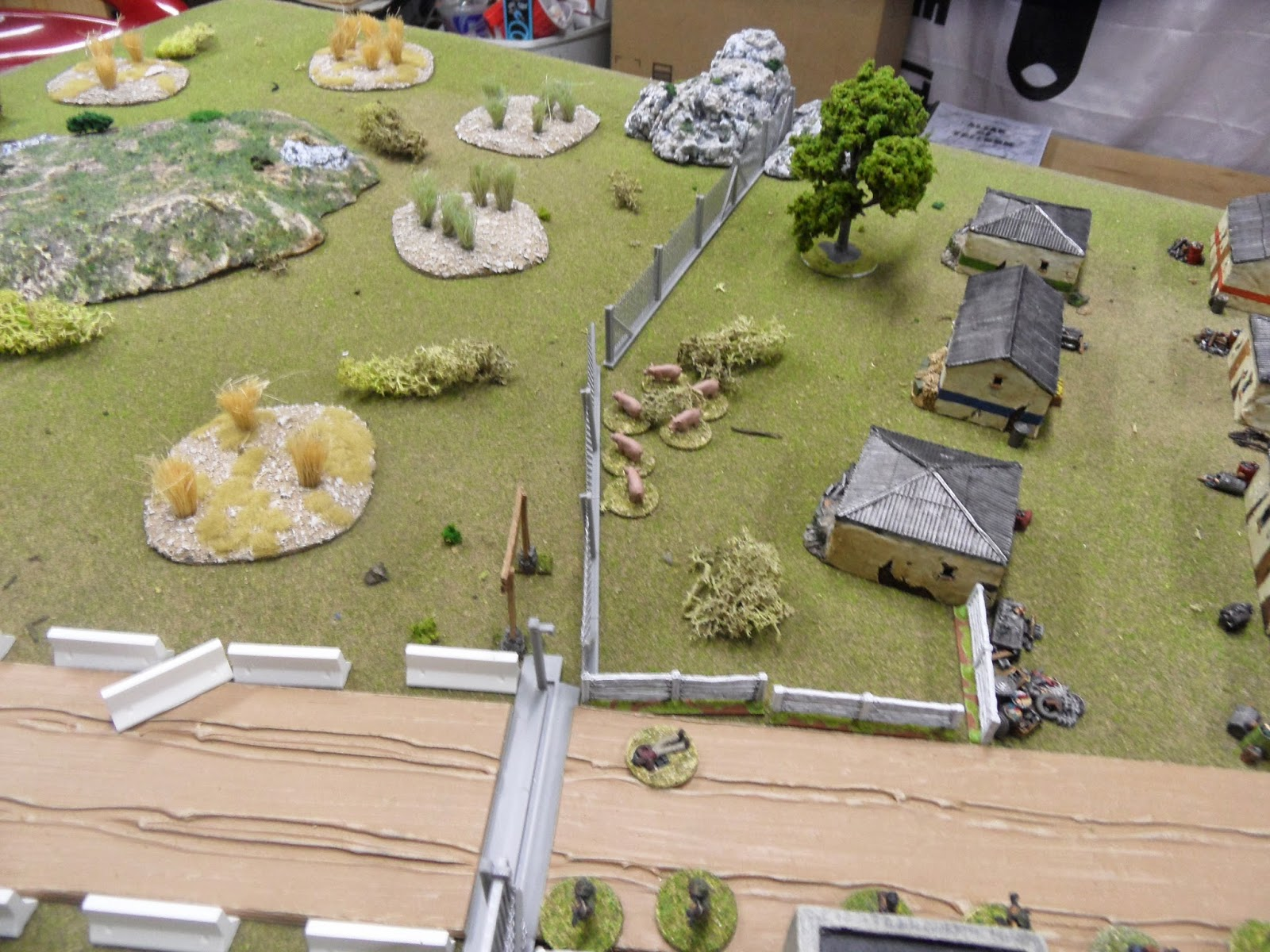 The brave pigs revealed both of the Blinds on the left flank to be Dummy Blinds!