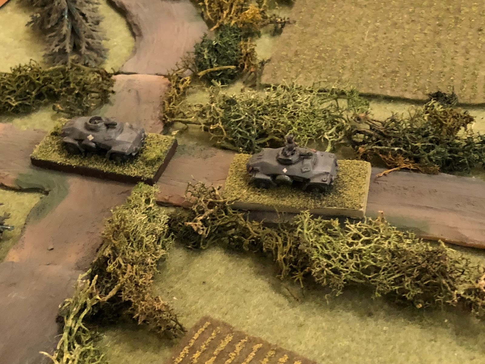 Where it's able to pick out Lt Loeb's platoon of Panzer Mk IIIs moving up
