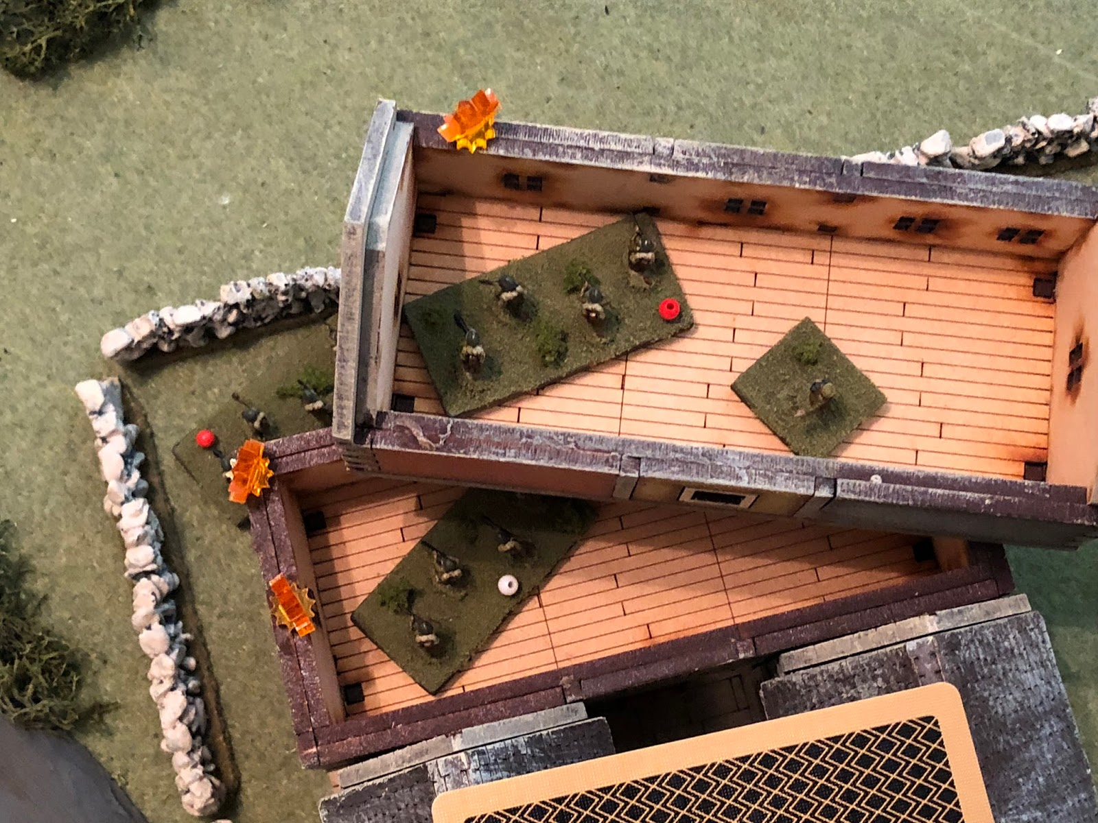 And the French 2nd Platoon quickly finds itself in trouble, with all three rifle squads hunkered down, out of the fight.