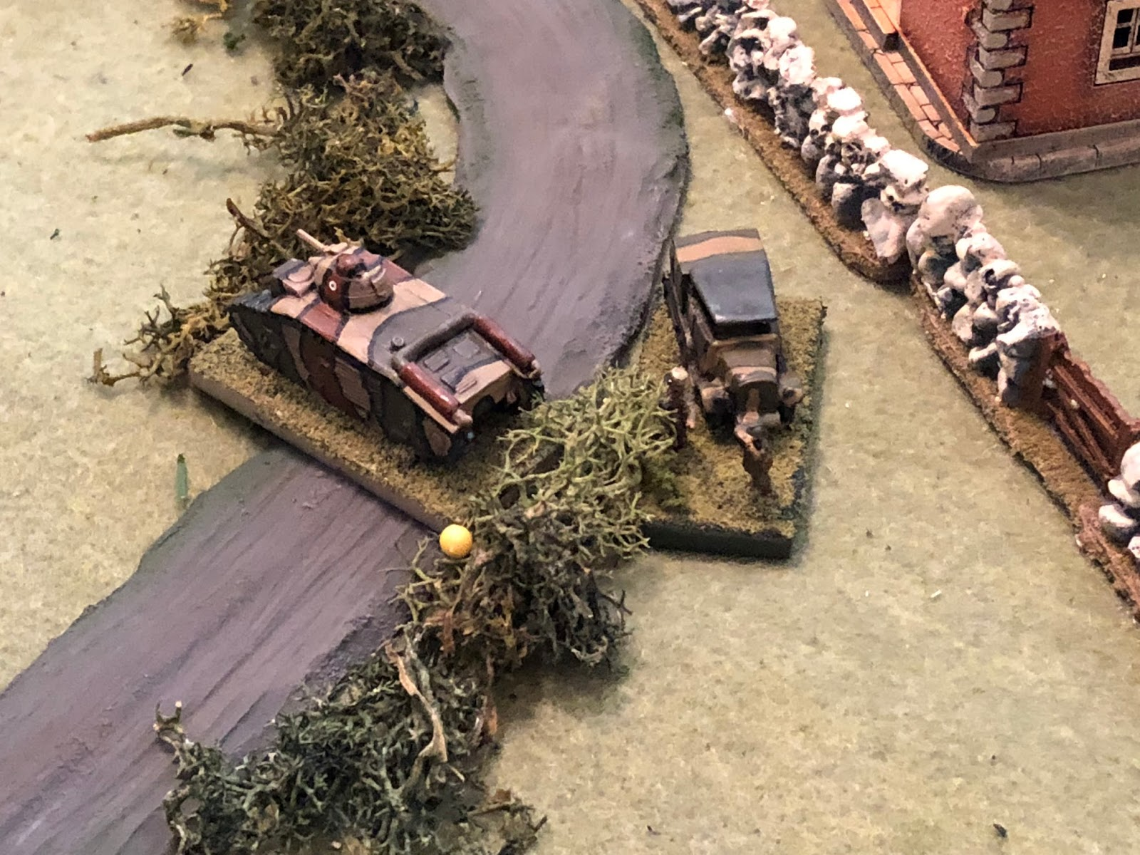 In the west, Major Renaut rallies Sgt Guillaume's Char B...