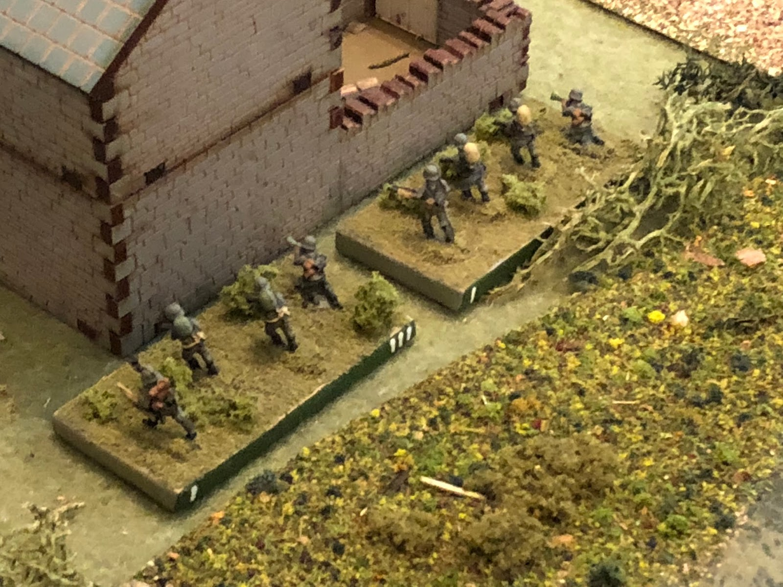 And the two German engineer squads are discovered before they can surprise anyone with their flamethrower...