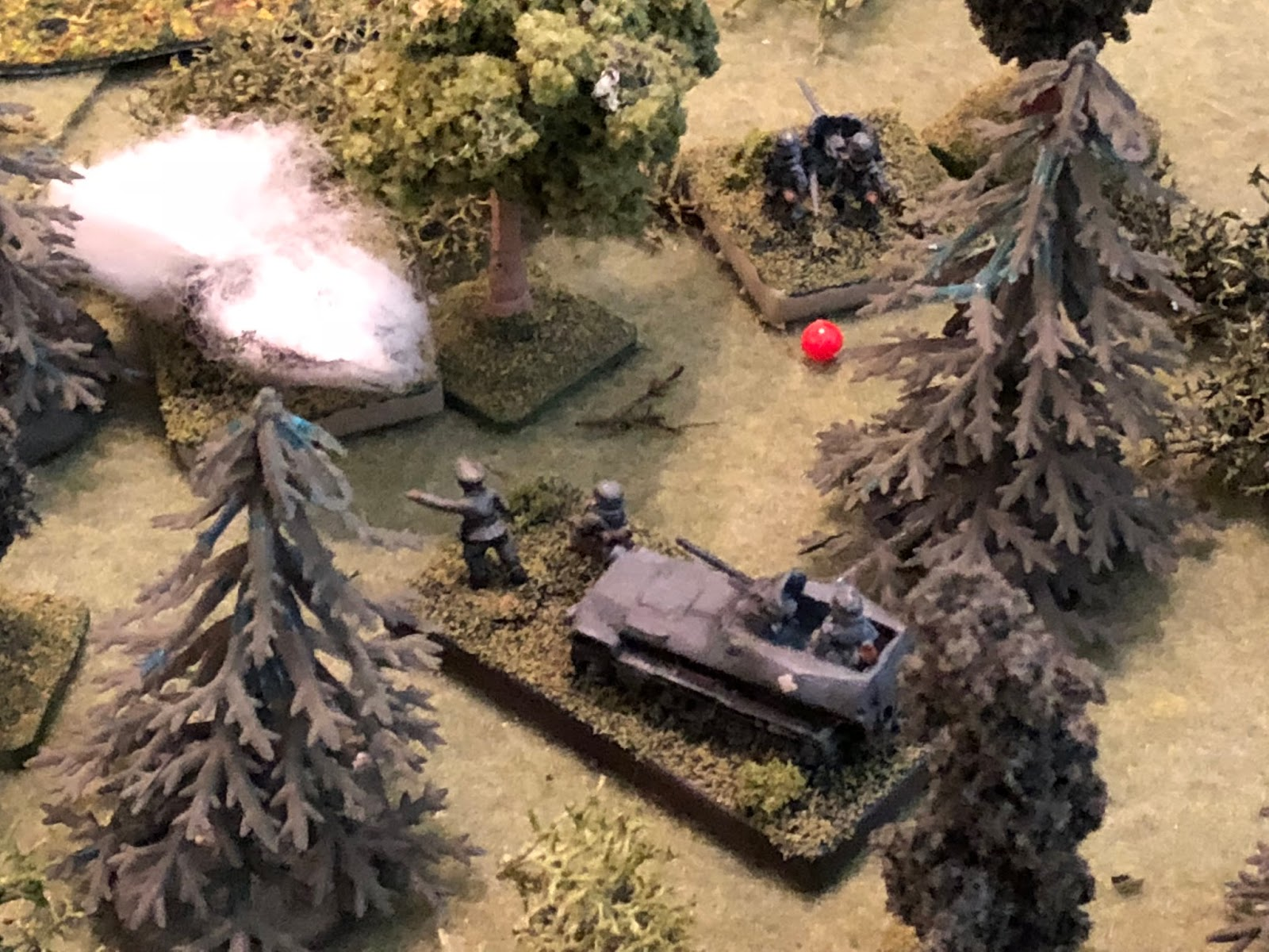 The Commander exults the anti-tank gunners to get back in the fight, and they rally 'up' to Pinned.