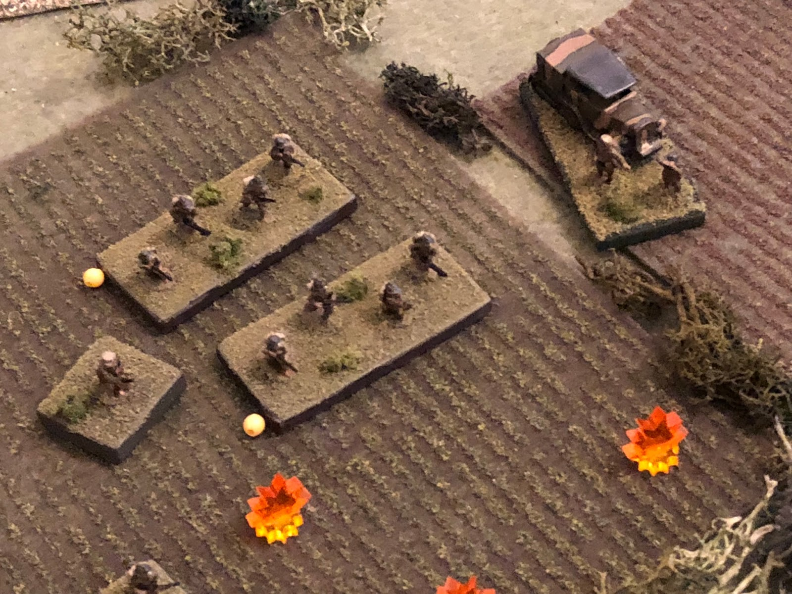 In the south, the French platoon leader continues trying to rally h is 1st Platoon back into the fight...