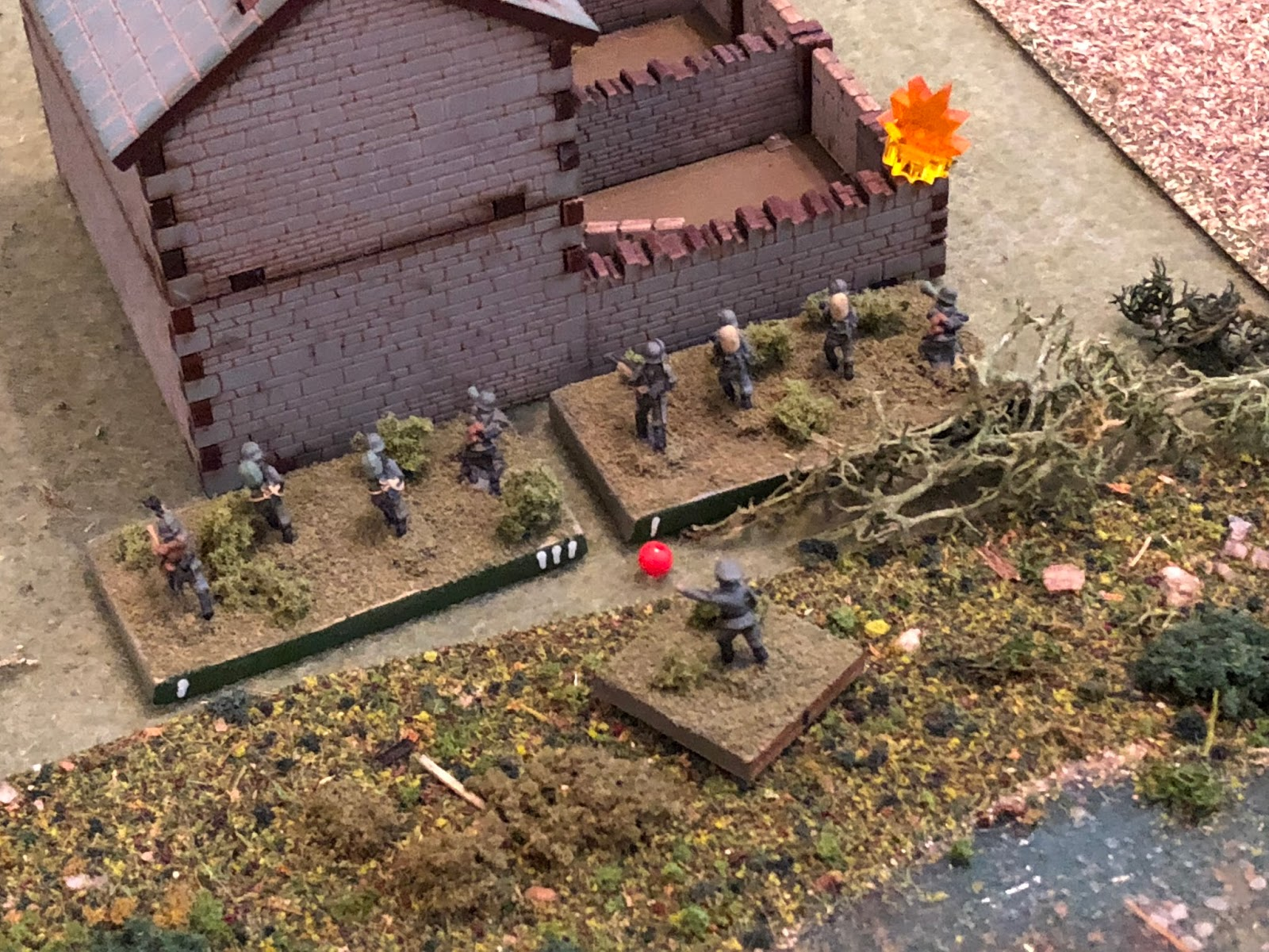 Suppressing Sgt Hafl's squad!
