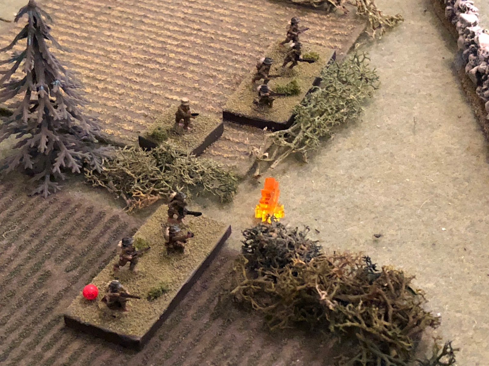 And SSgt Sachs' fire manages to suppress one of the enemy squads.