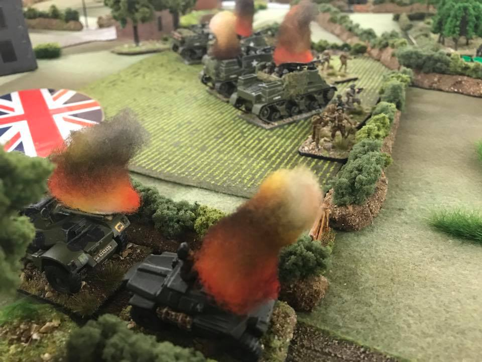 Wreckage of the left flank attack.