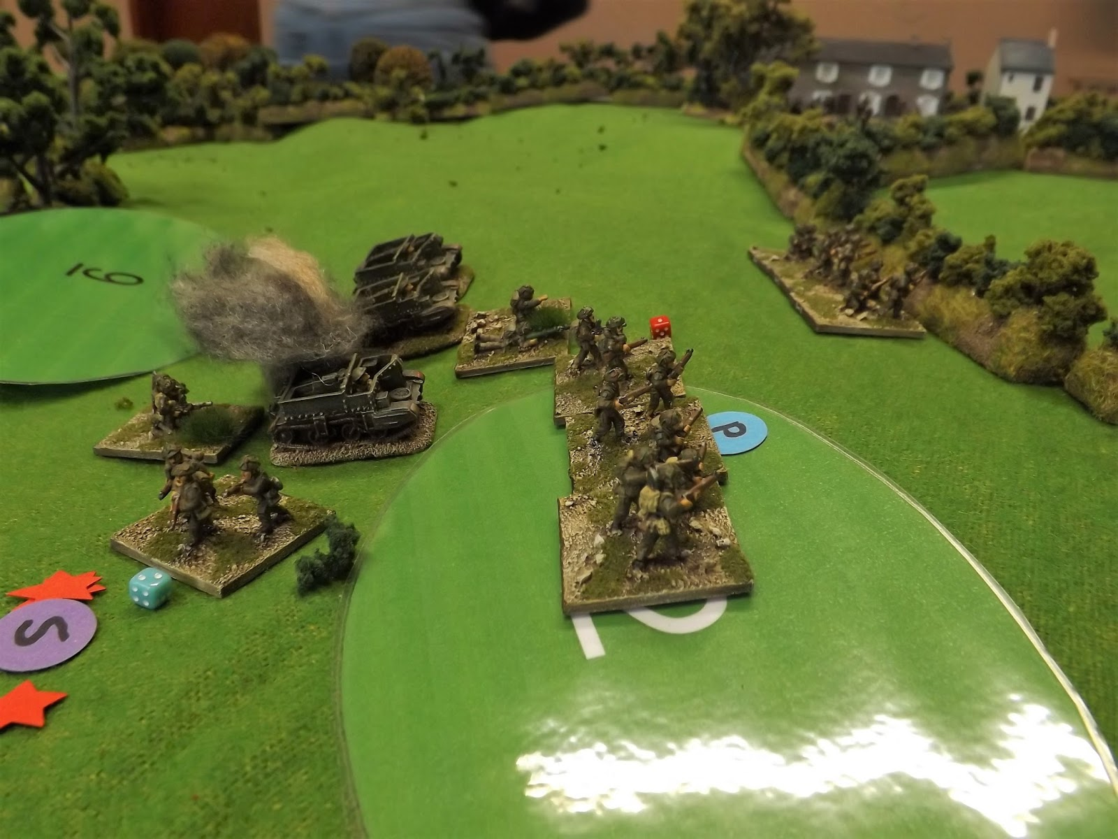 Meanwhile the British flank advance on Hill 203 is caught in open ground by a hail of machine gun fire and anti-tank shells