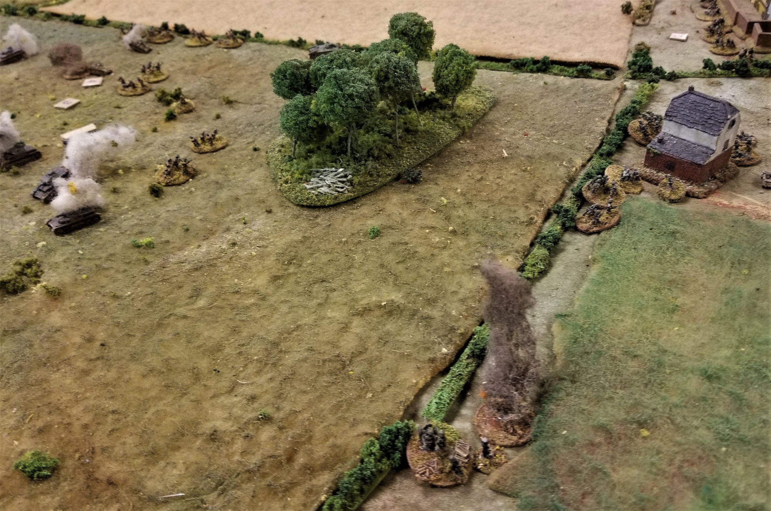 French infantry getting chewed up