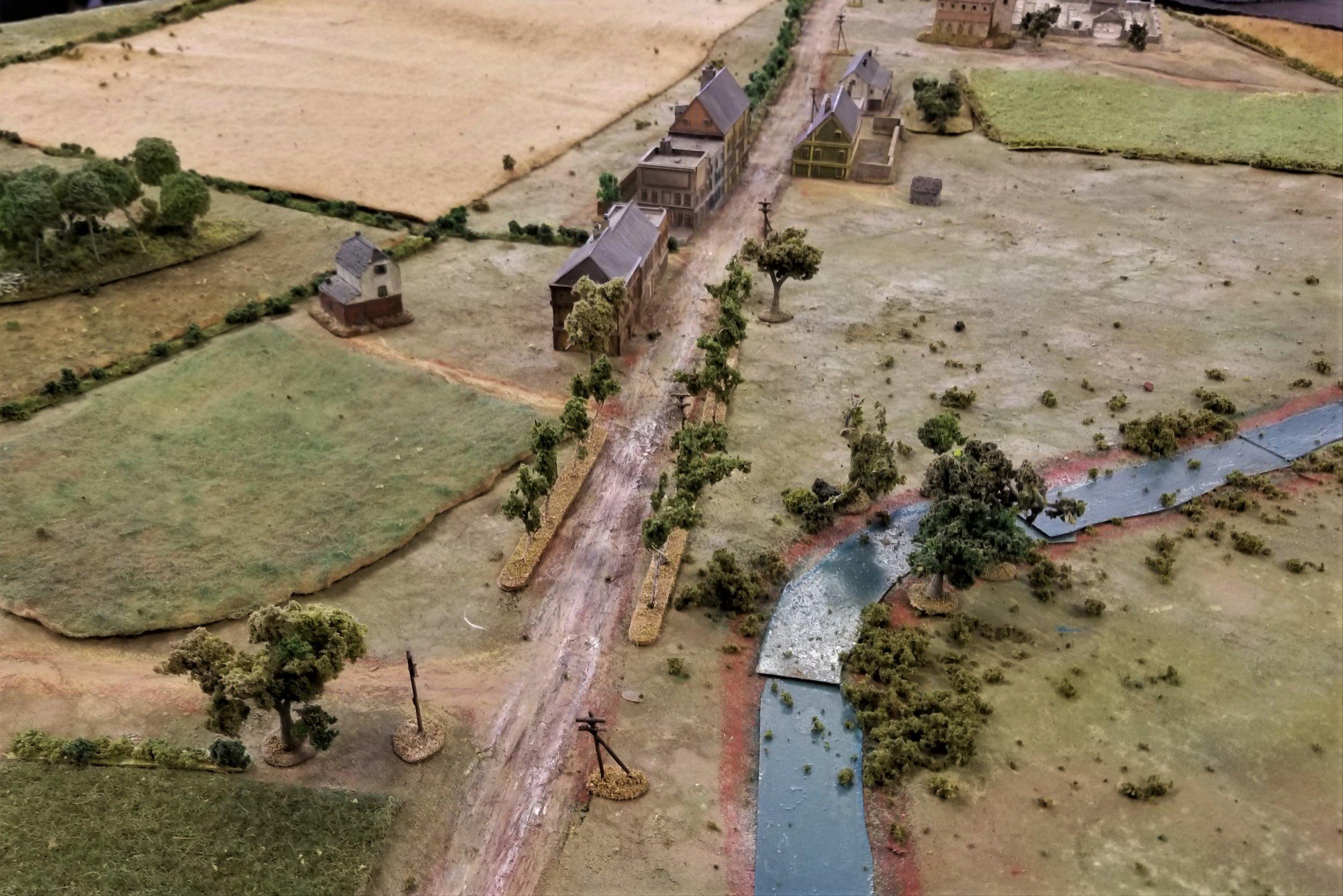 German advance route