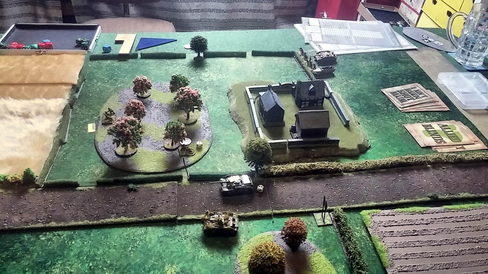 Opposing StuGs (Ace to bottom) with one already damaged and crew shocked