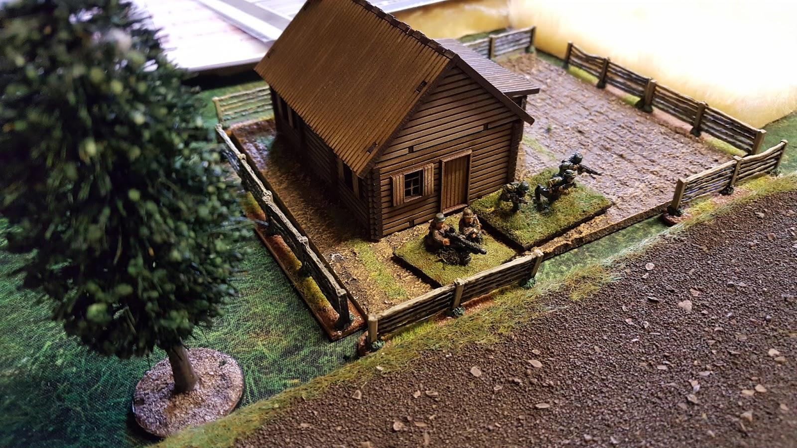 German MGs on the flank.