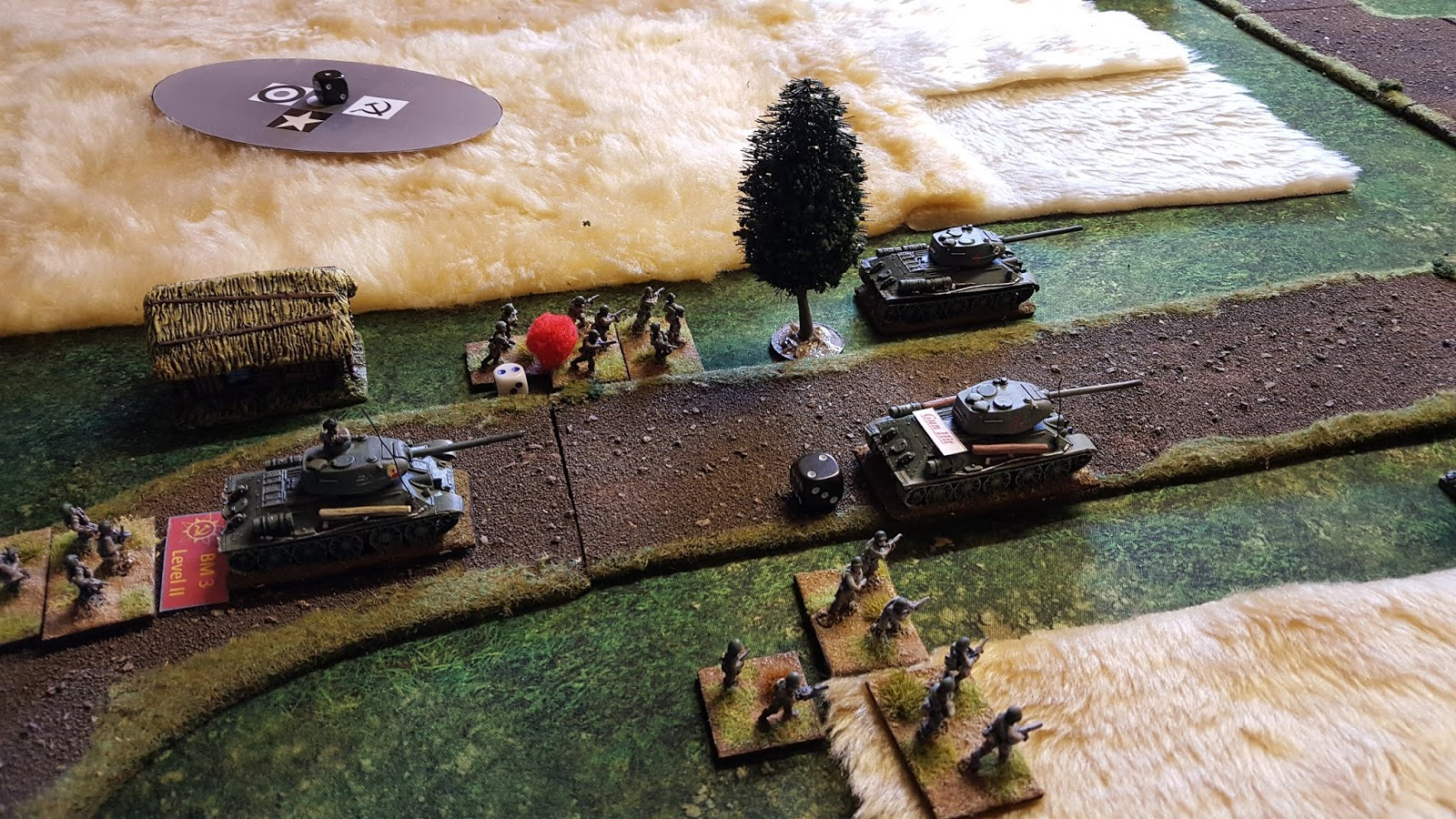 Soviet armour moves off one of the early Blinds.