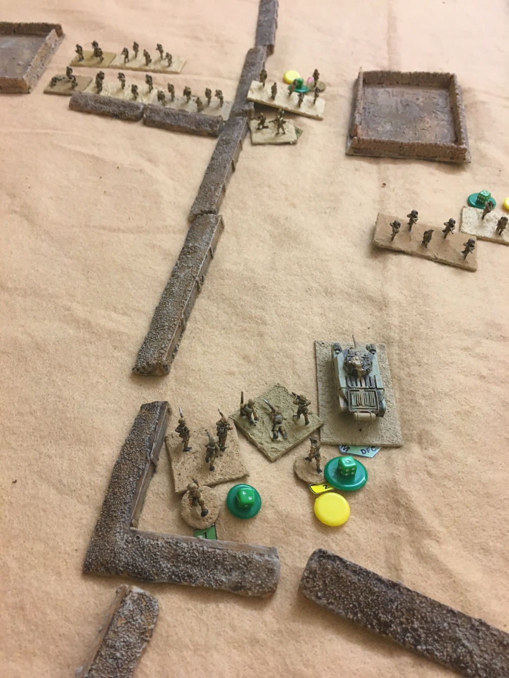 And the Australians have close assaulted and eliminated the Italian section that was holding the side trench.